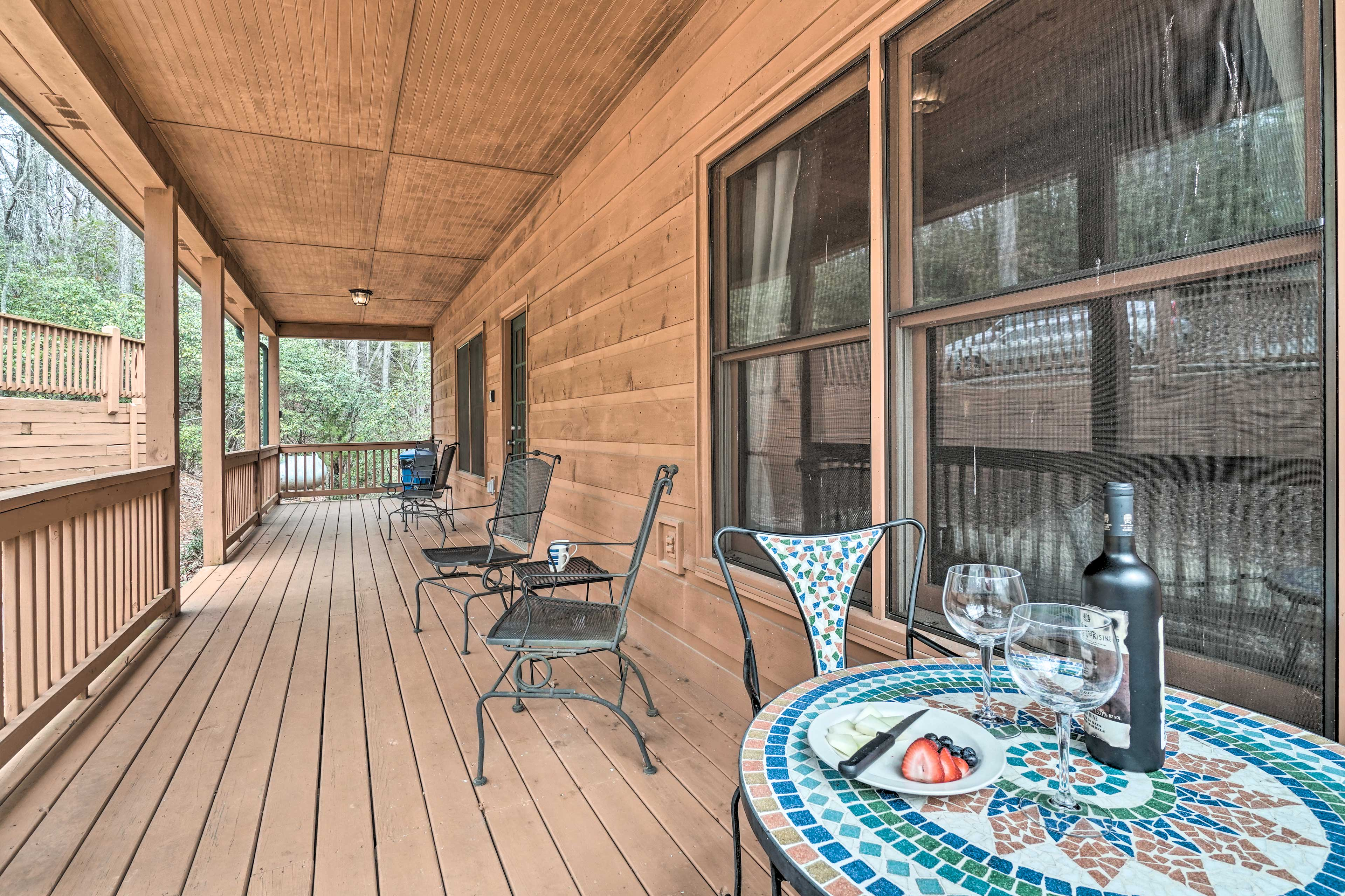 Sip your morning coffee on the front deck.