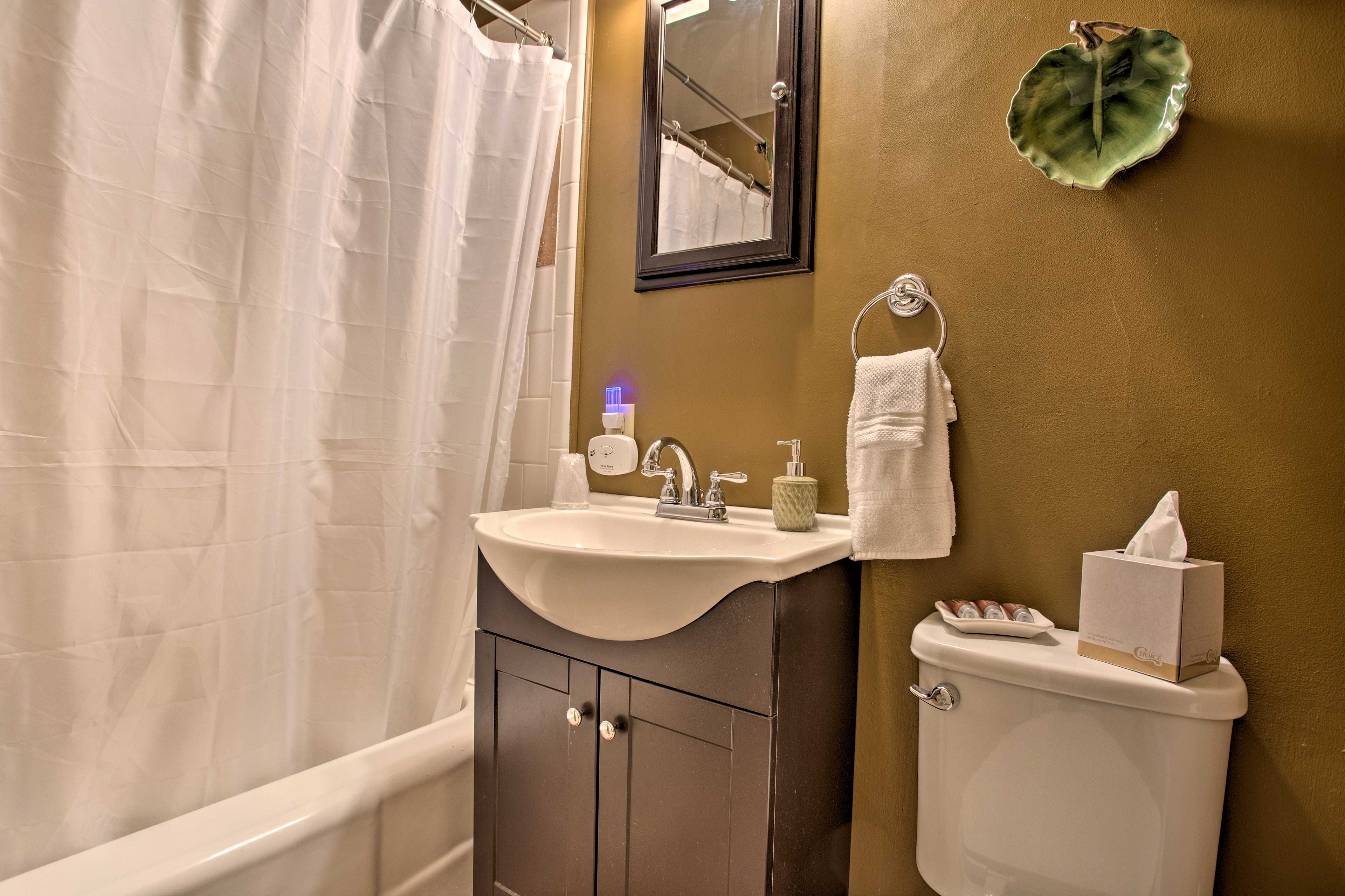 Each bedroom features a private bathroom.