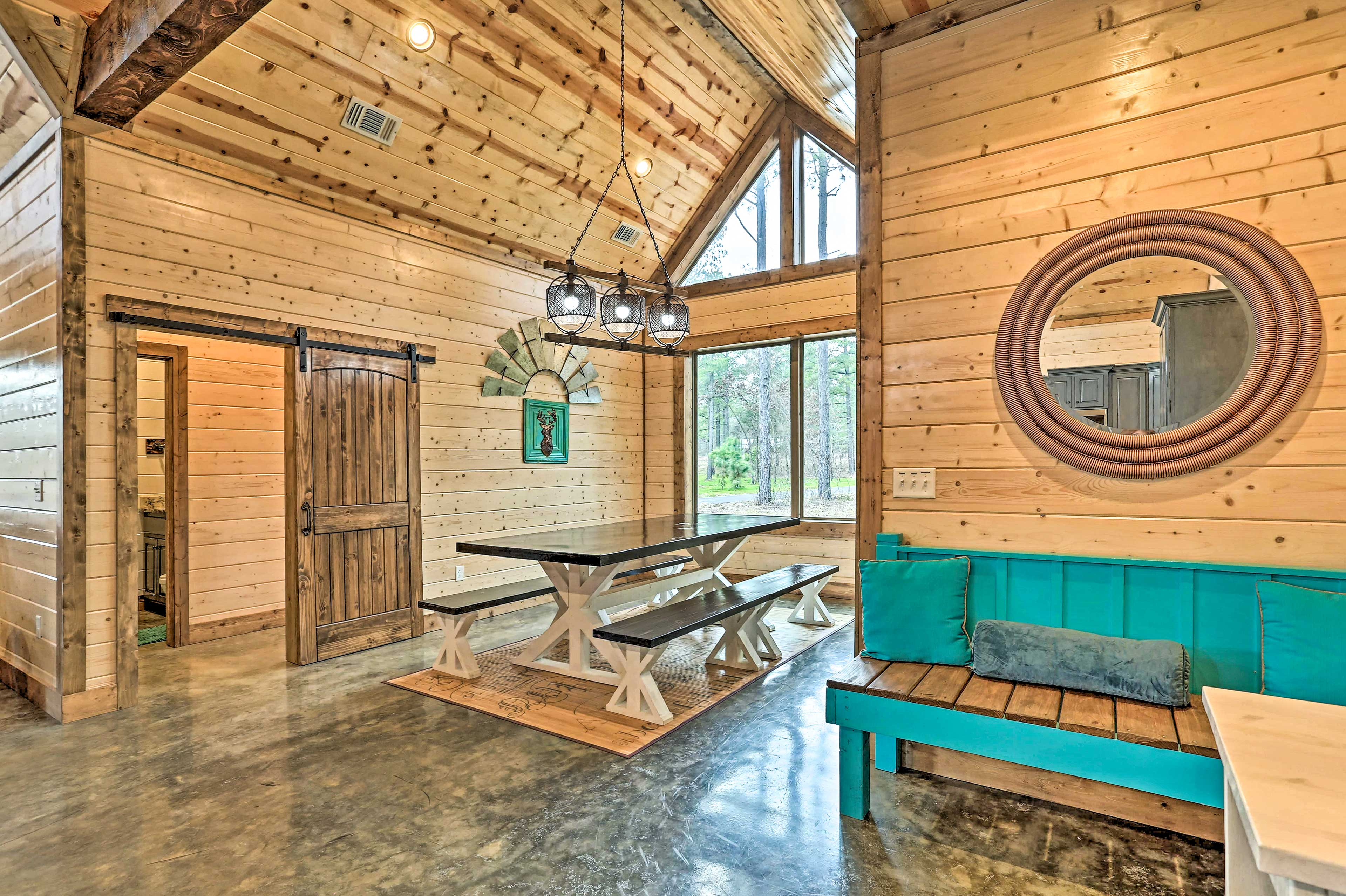 Make yourself comfortable and at home in this spacious and welcoming cabin.