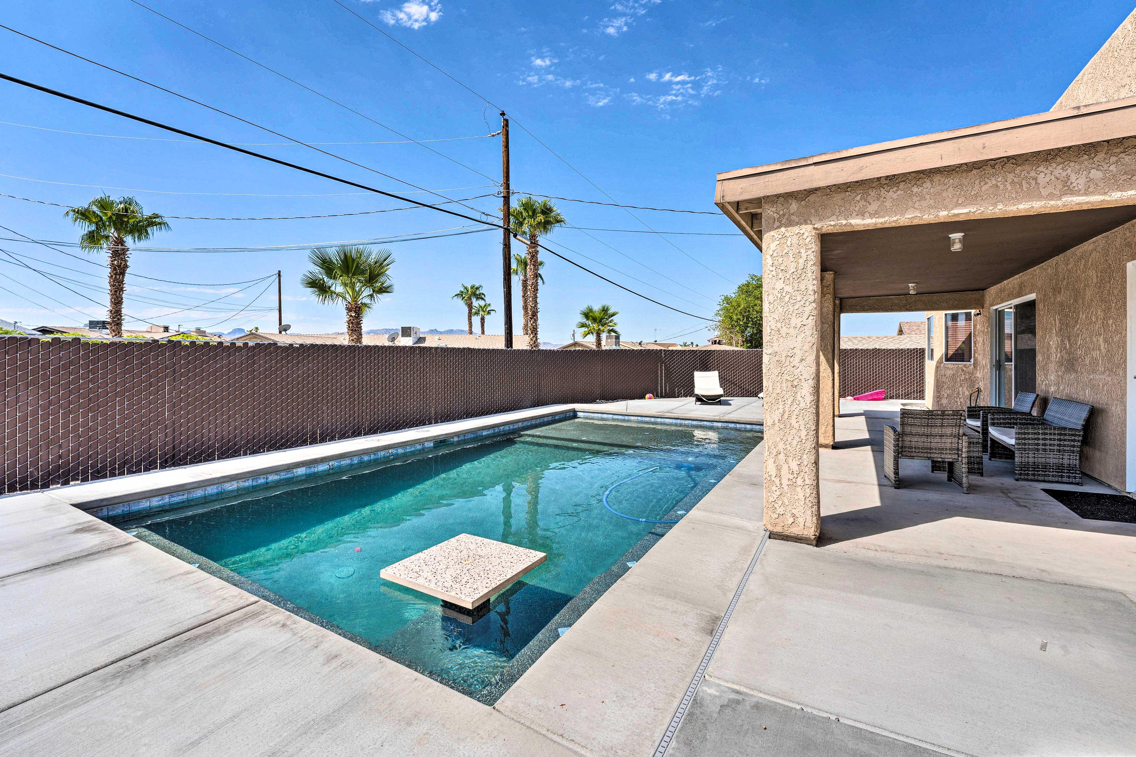 Fenced Backyard   Private Pool