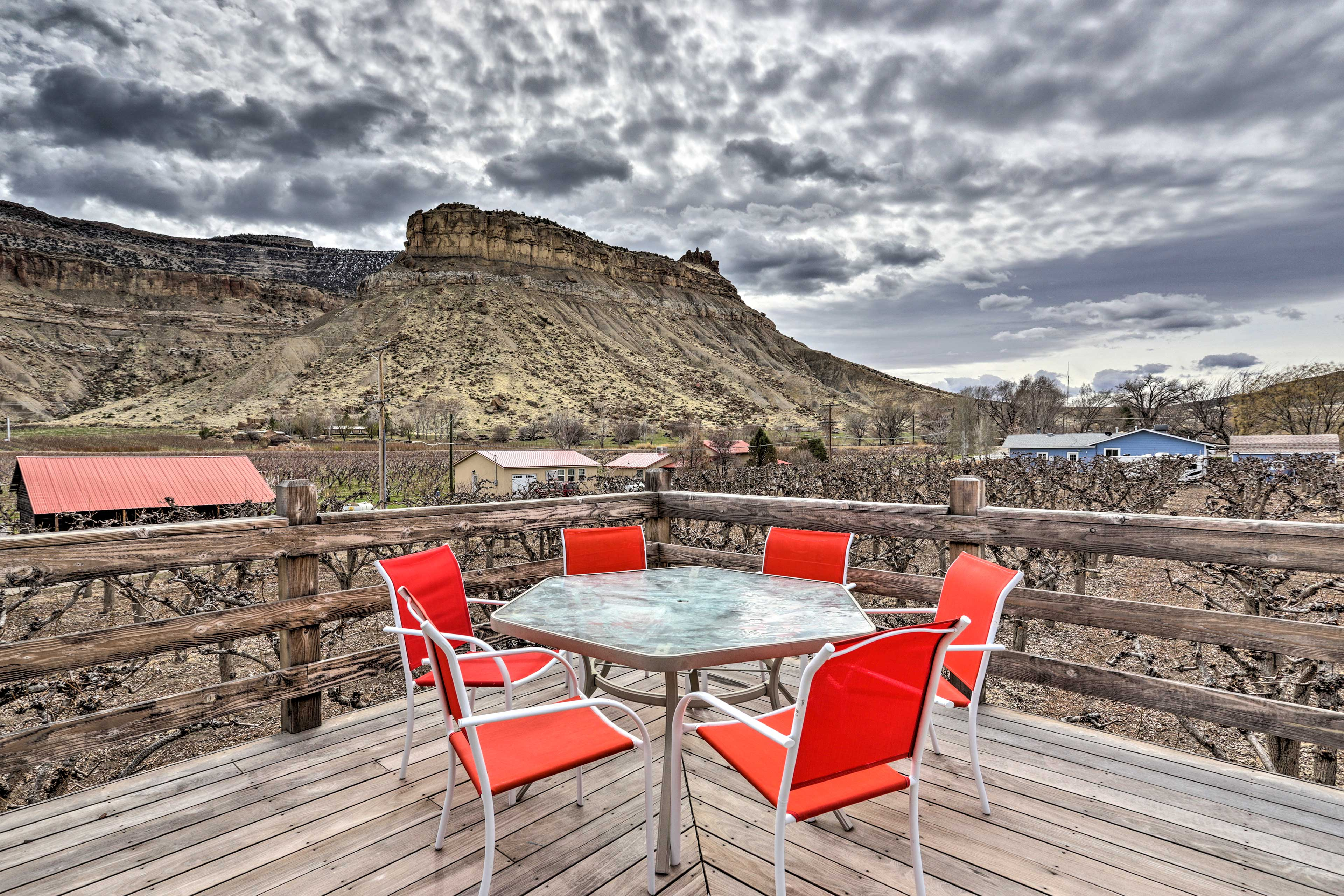 Sip a glass of vino and relax on the deck of your vacation rental!