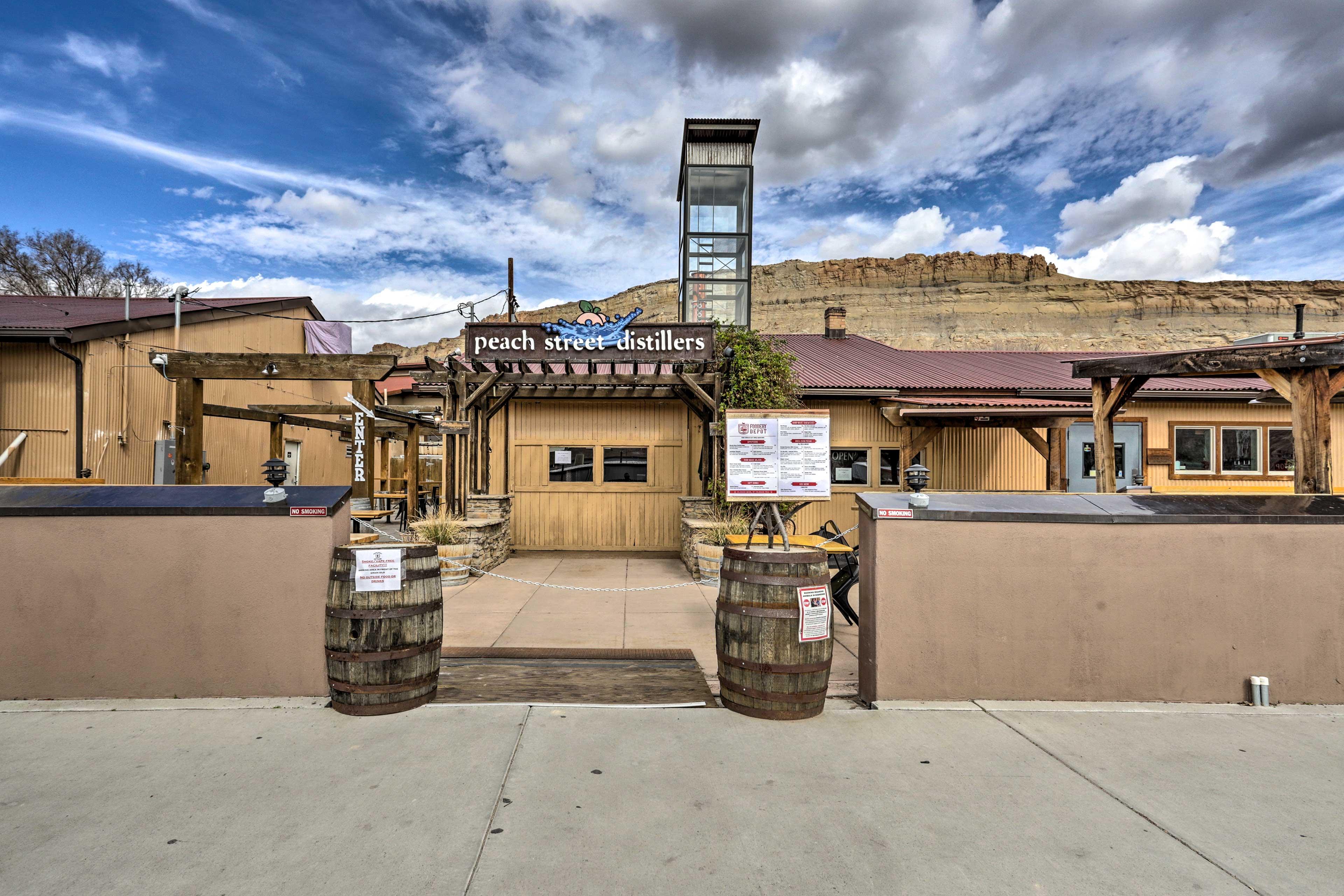 Enjoy vineyards, distillers, and breweries nearby.