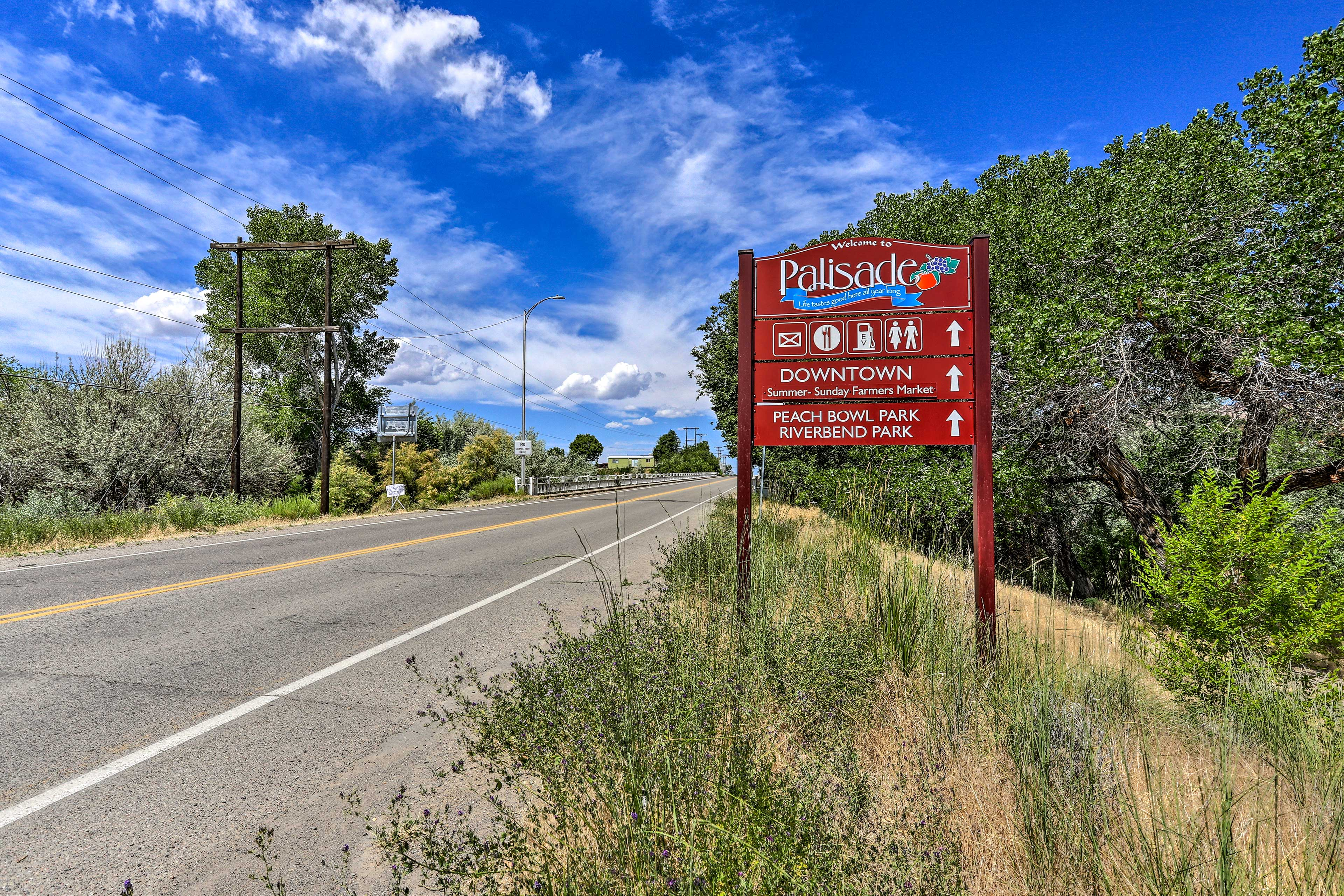 You'll be warmly welcomed to Palisade Colorado and all it's fun attractions!