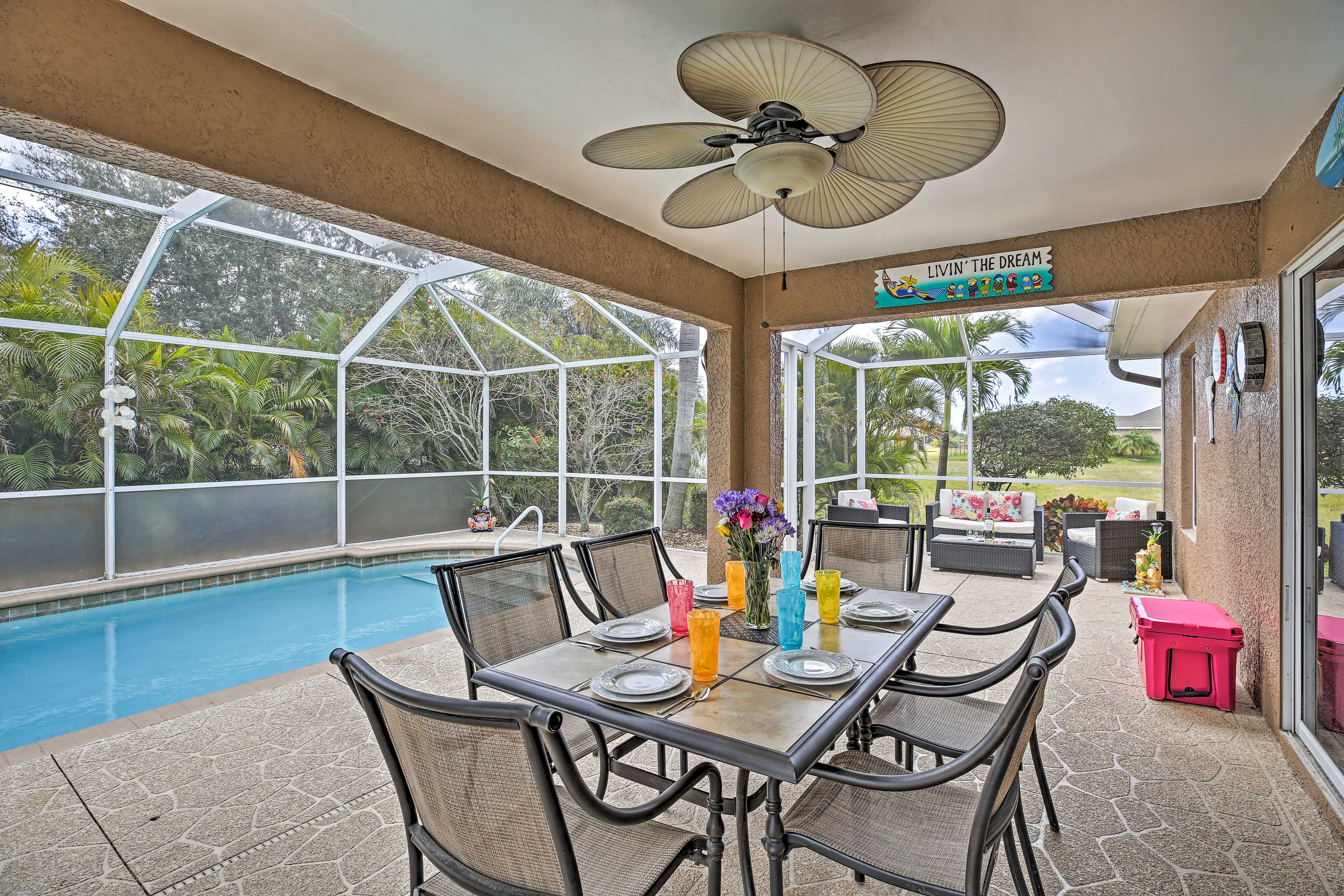 Head out to the lanai.