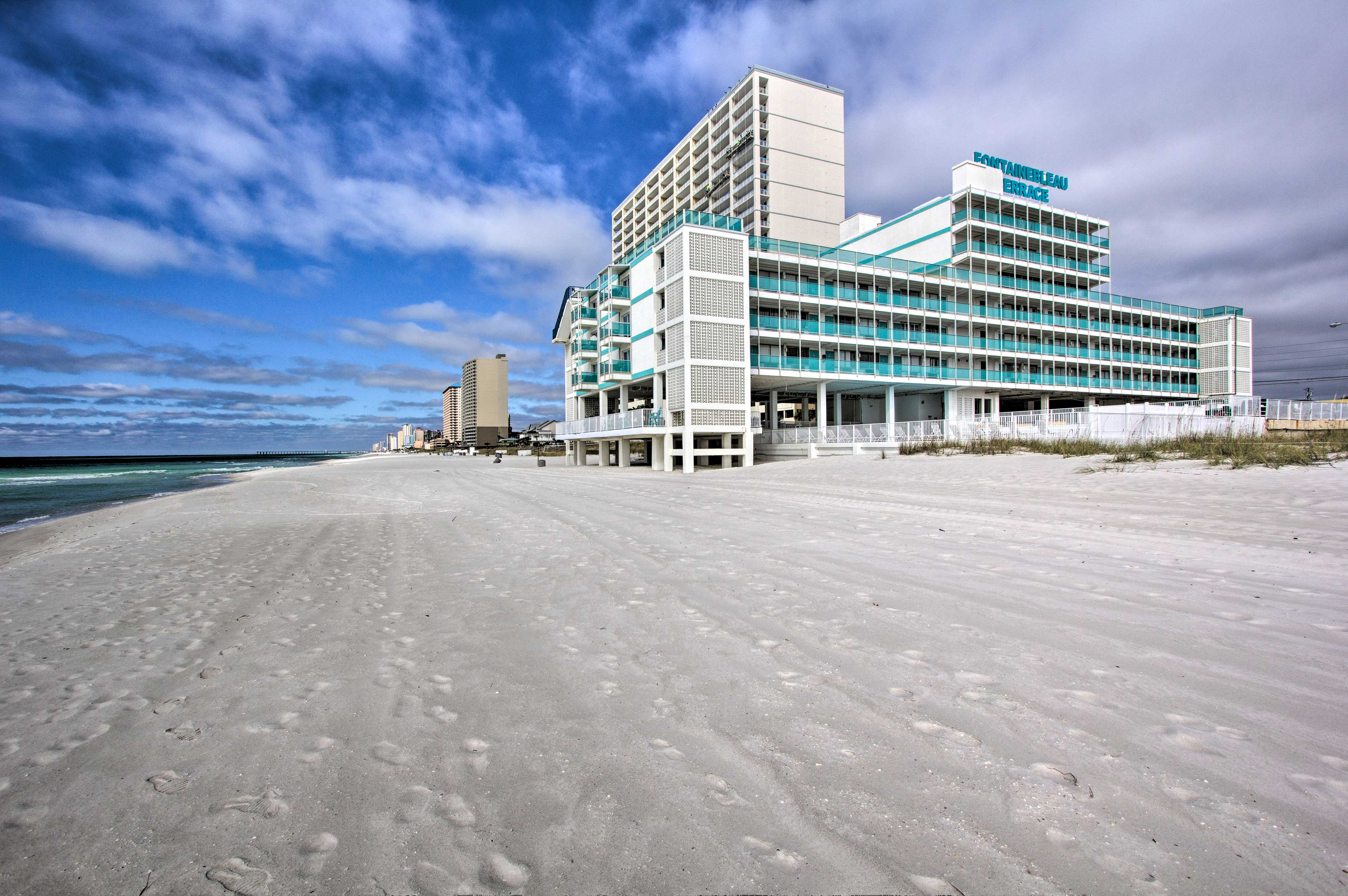 The Gulf of Mexico waves are a short walk from your vacation rental.