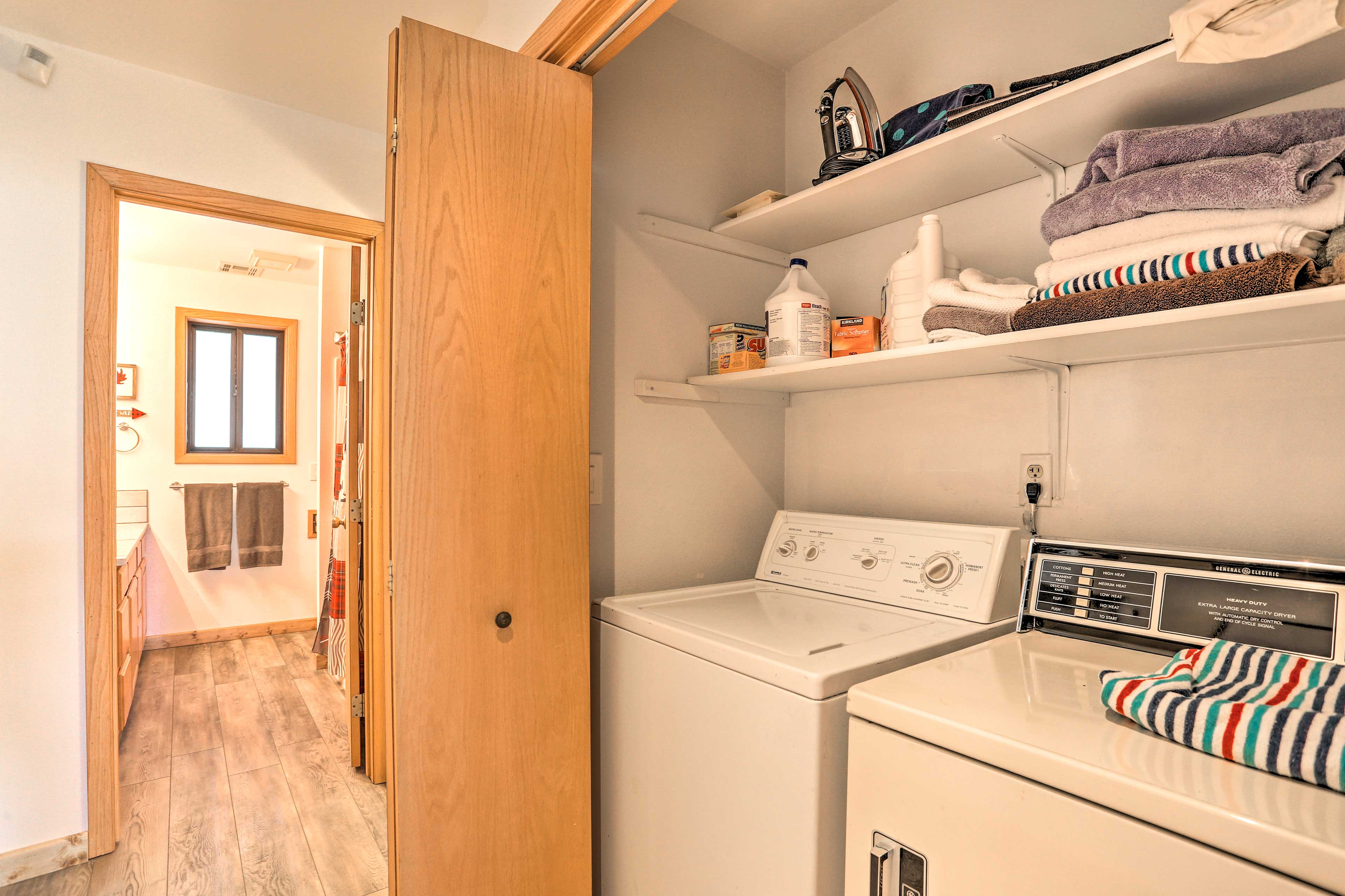 Keep all your mountain gear fresh with the washer/dryer.