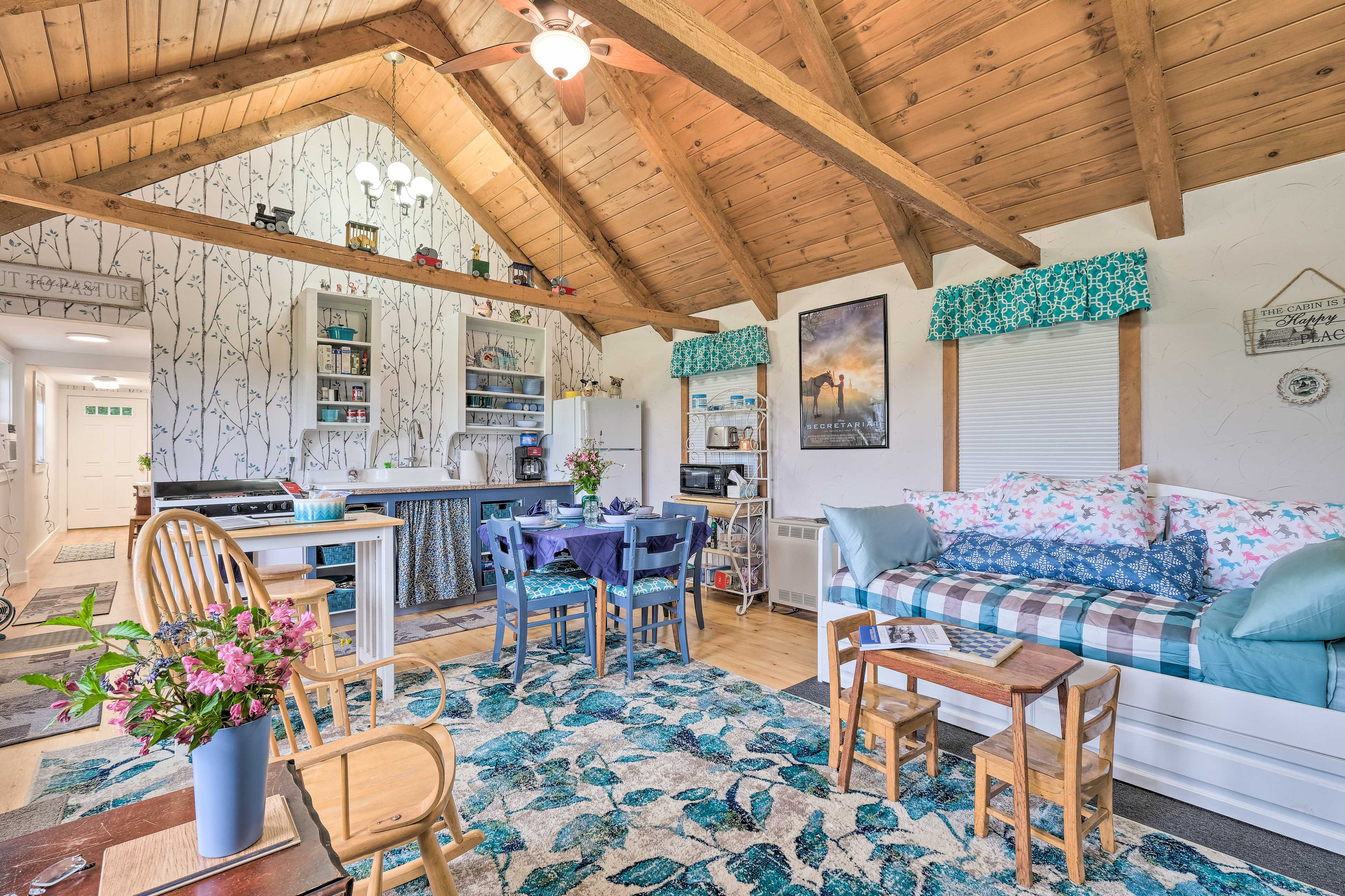 Cottage Interior | Air Conditioning/Heating | Step-Free Access