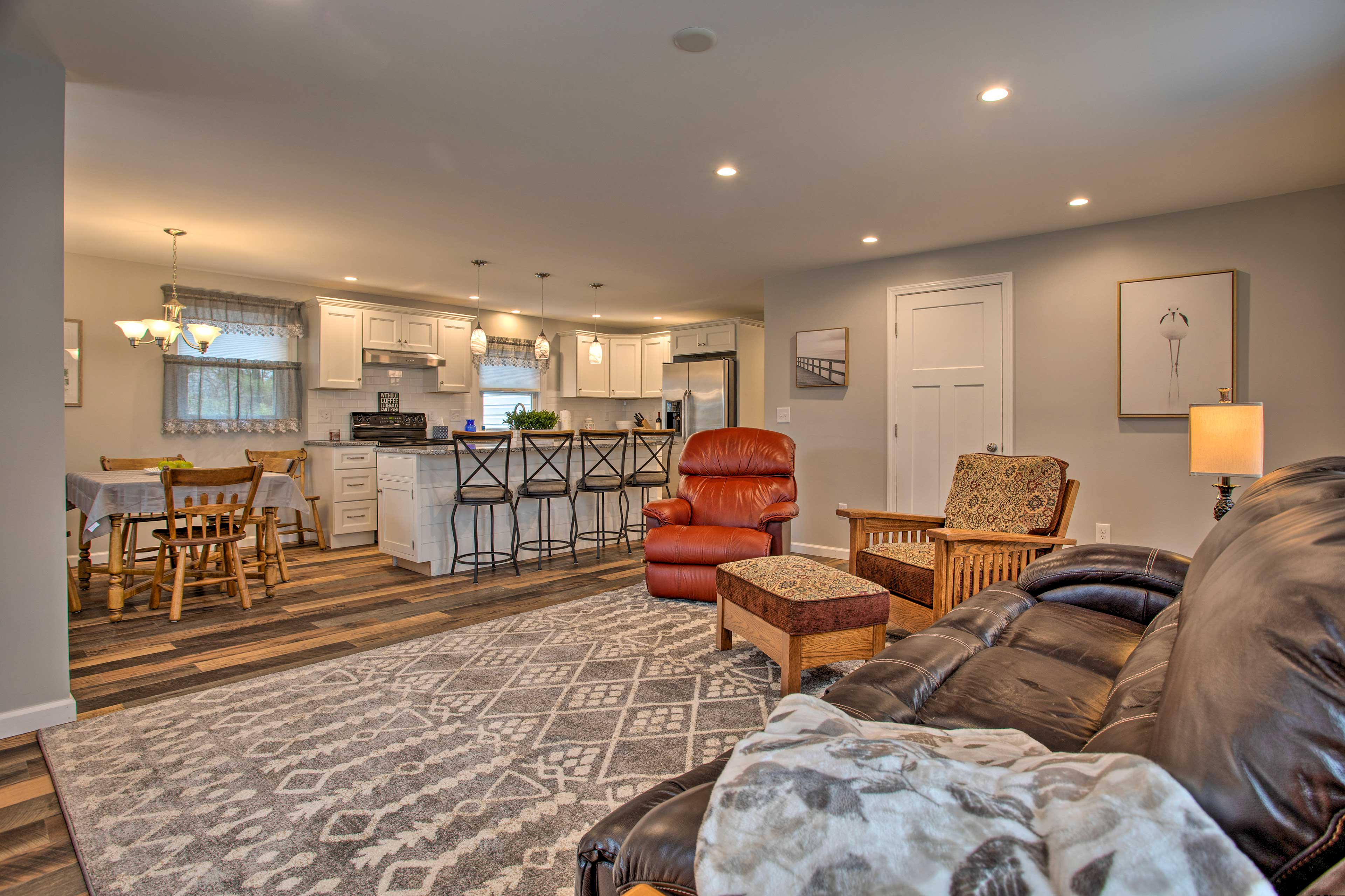 Enjoy the New England style and welcoming interior design.