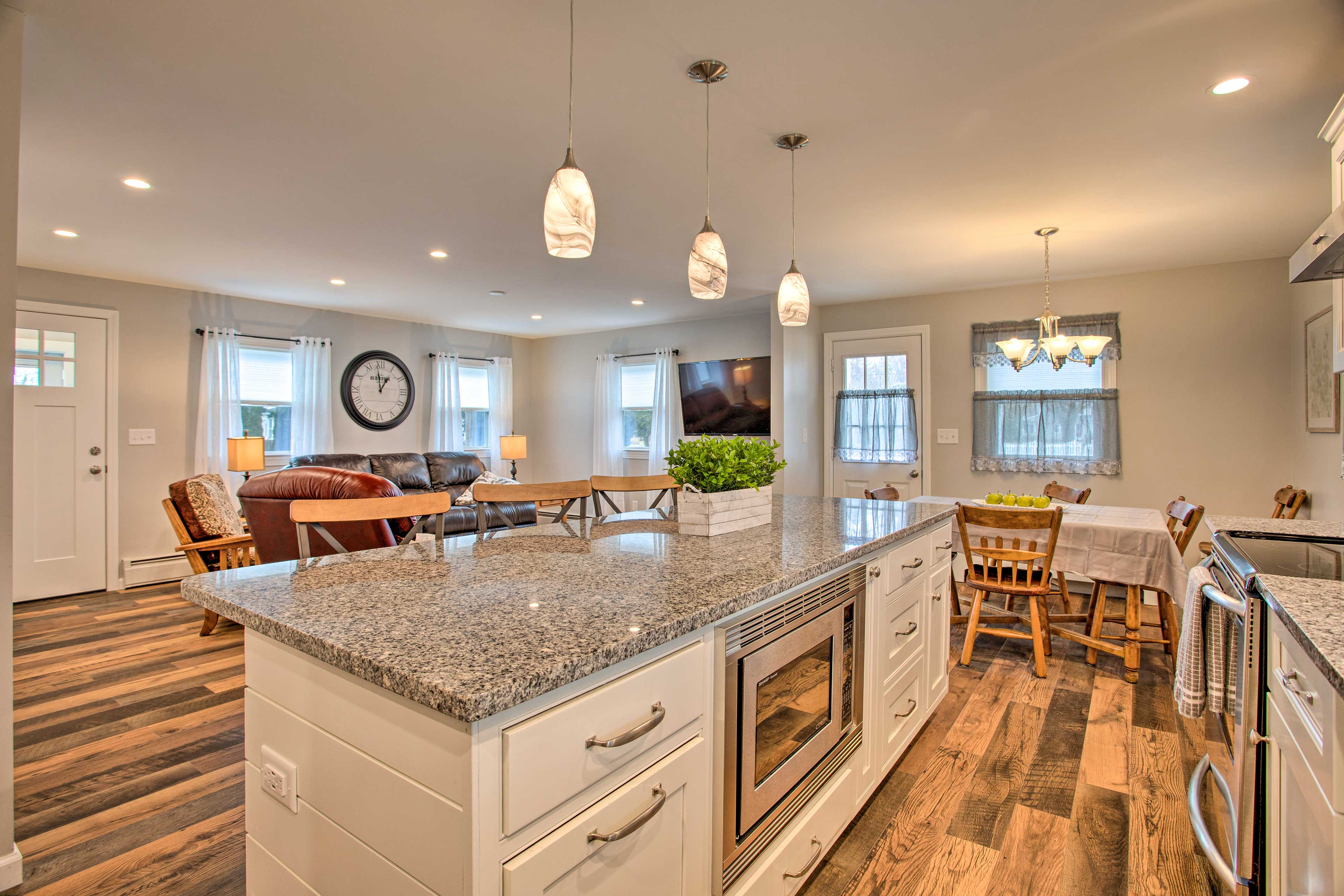 Easily prepare all your favorite meals in this modern kitchen.