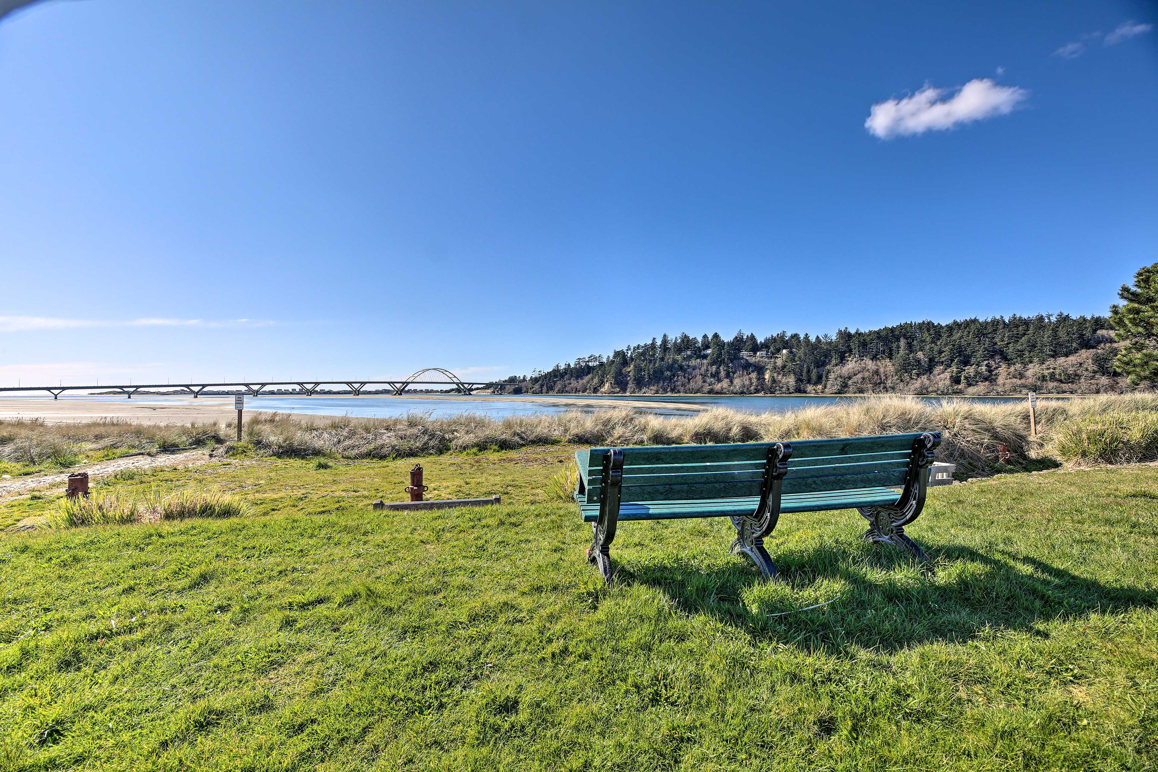 Sit back, relax, and be inspired by the scenic bridge views.
