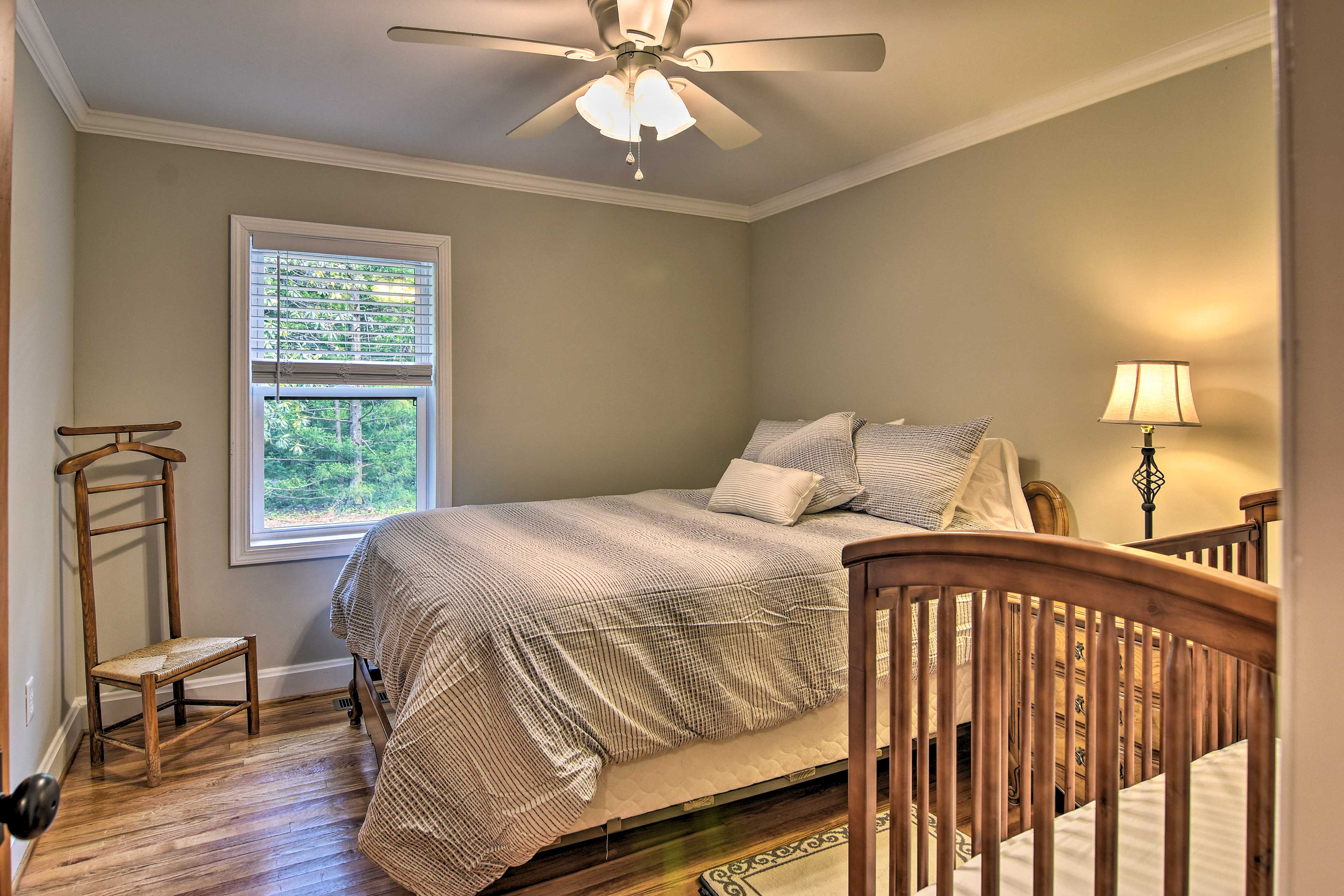 A crib is provided for your use in this room!