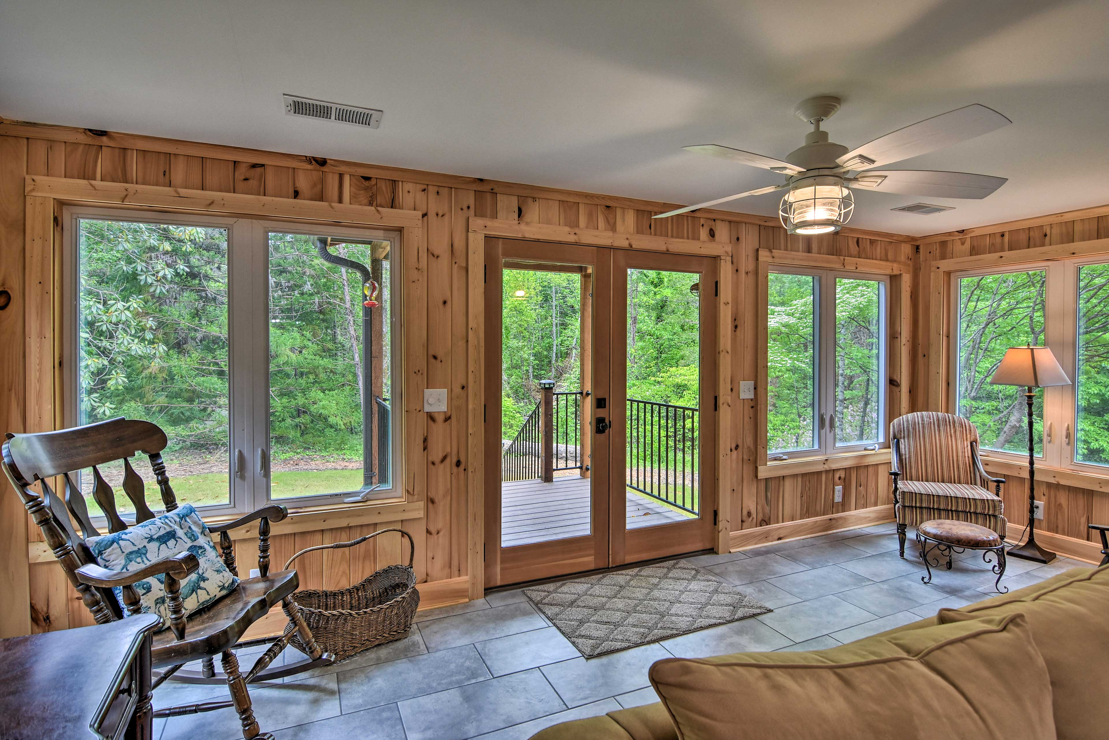 Picture windows allow for plenty of natural light!