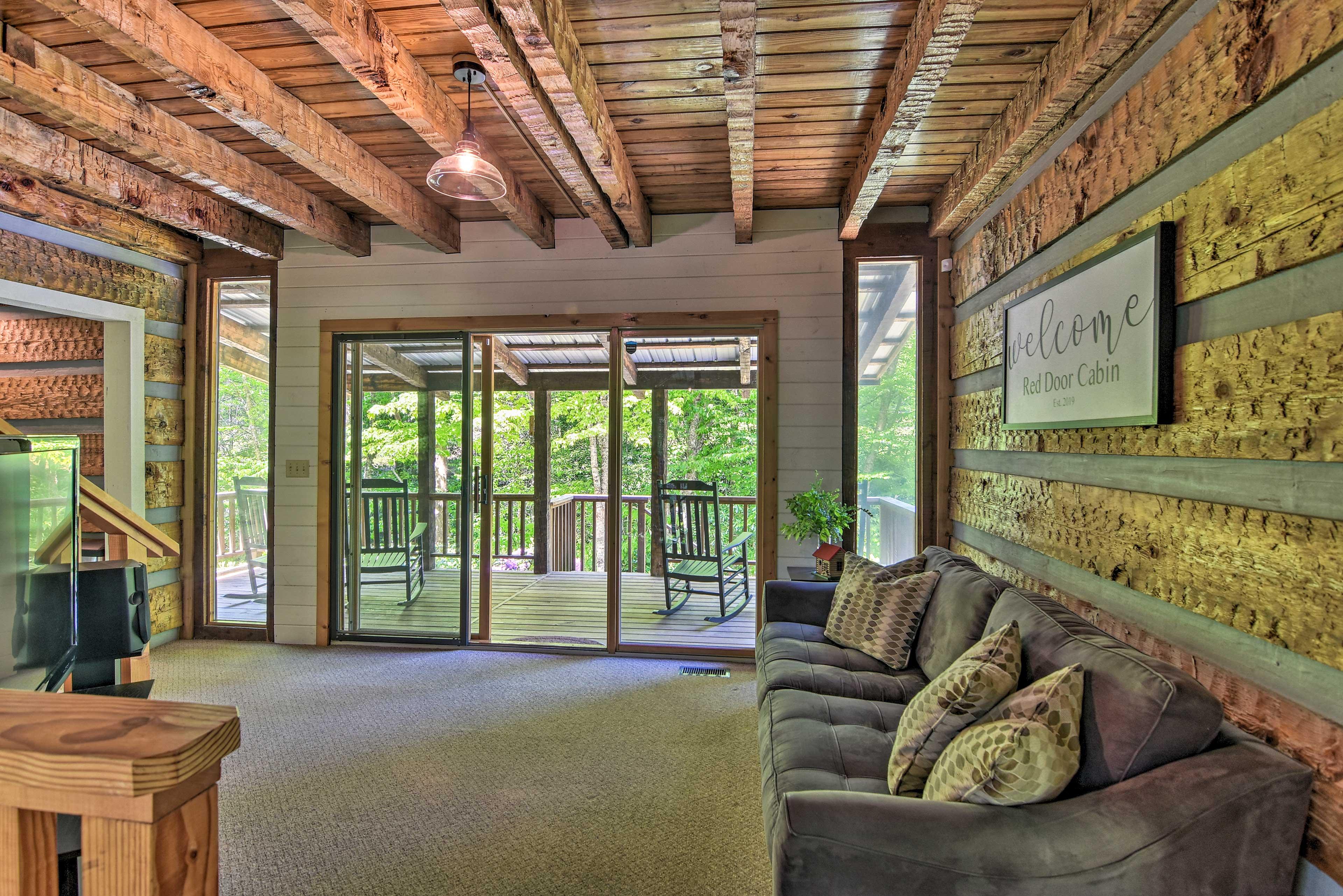 Natural light illuminates every corner of this Blue Ridge Mountain cabin!