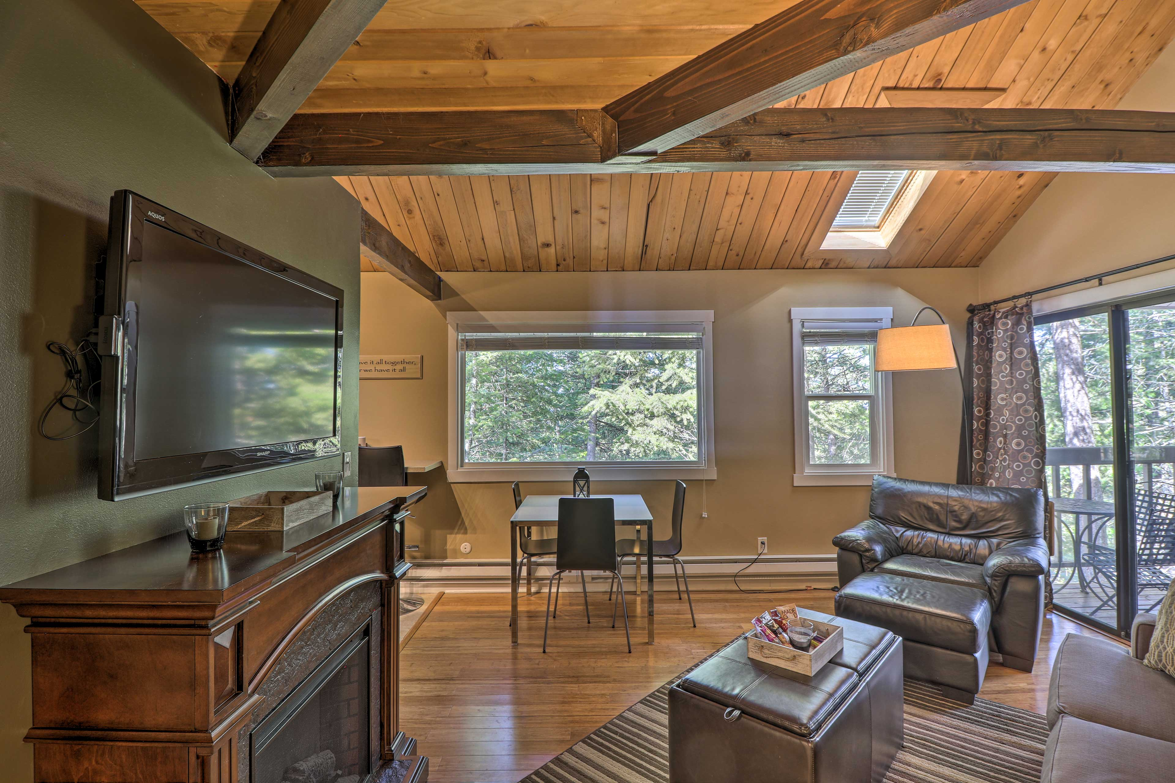Kick-off your Big Sky Country retreat at this studio condo in Whitefish!