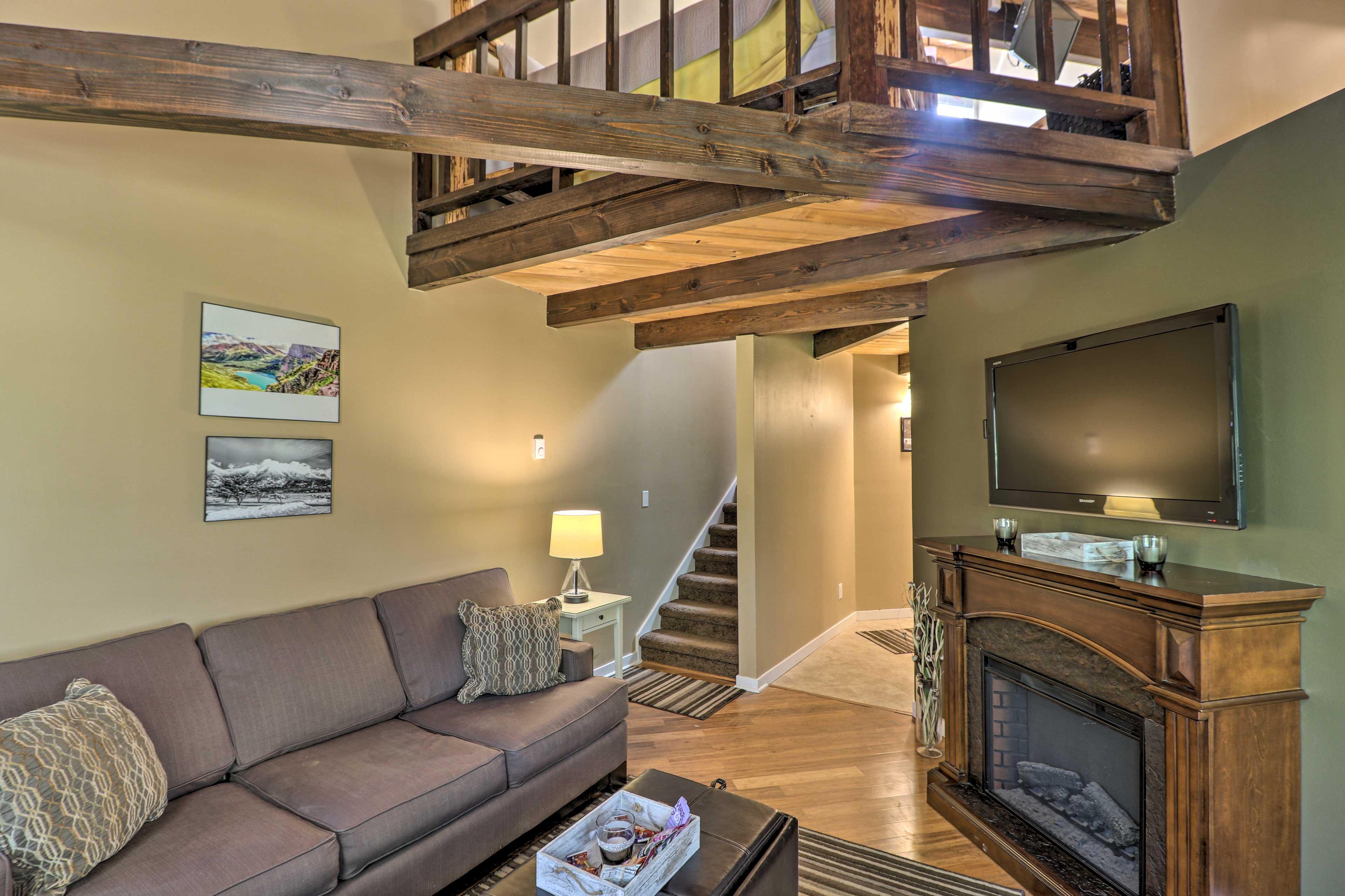 Head upstairs to the loft bedroom!