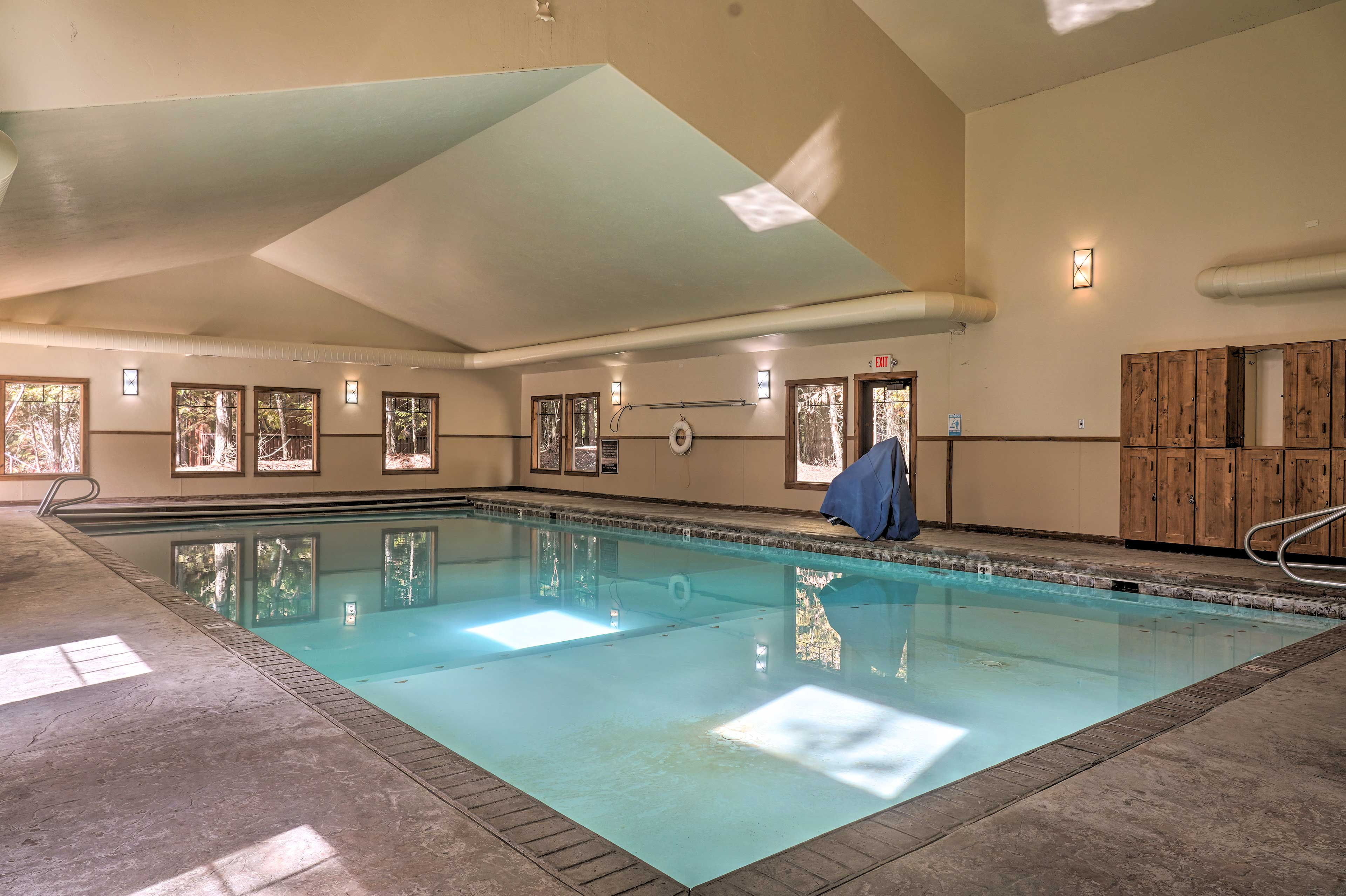 Go for a refreshing swim in the saltwater pool, great for your skin!