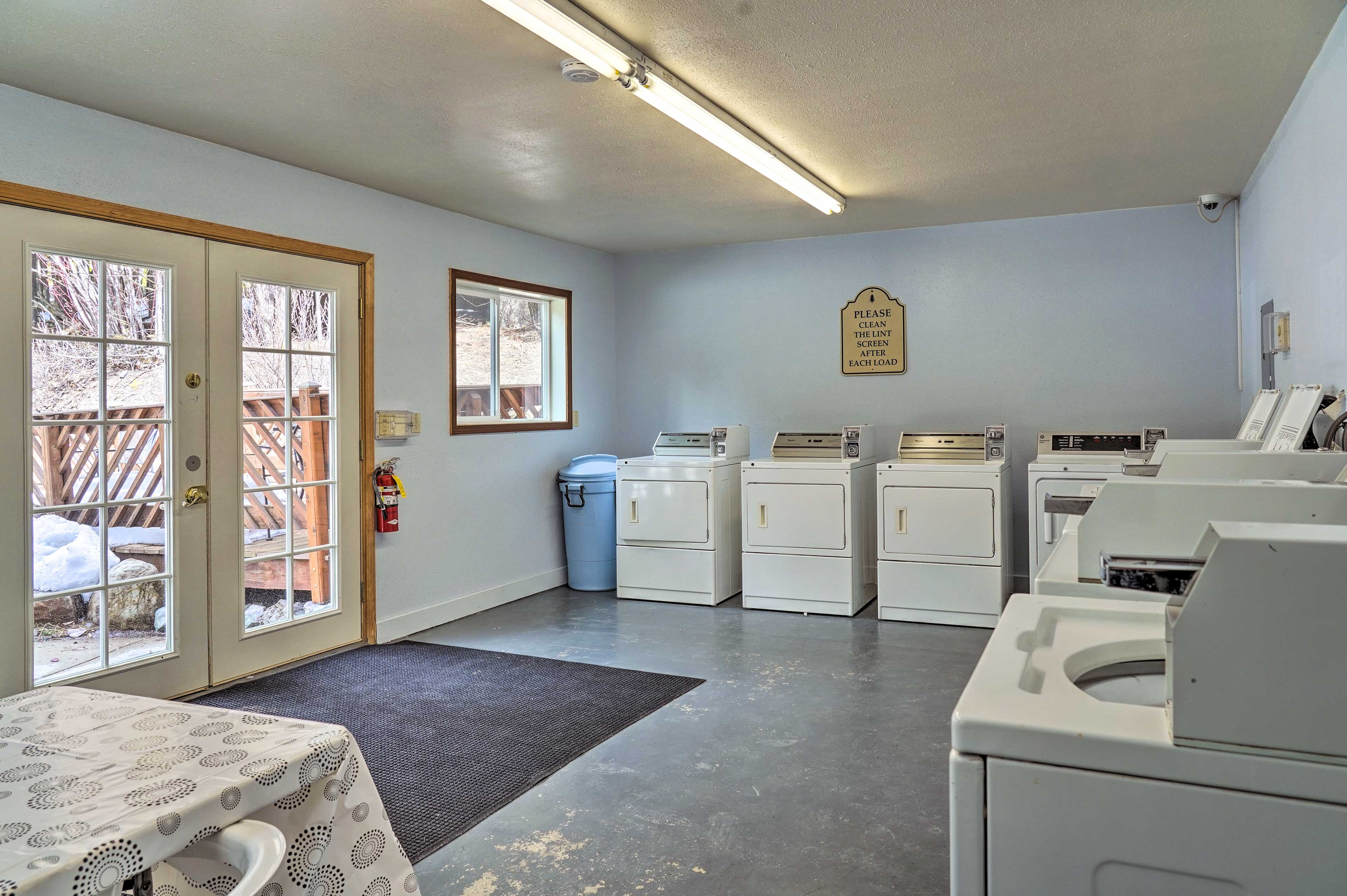 Keep your adventure gear sparkling with the on-site laundromat.