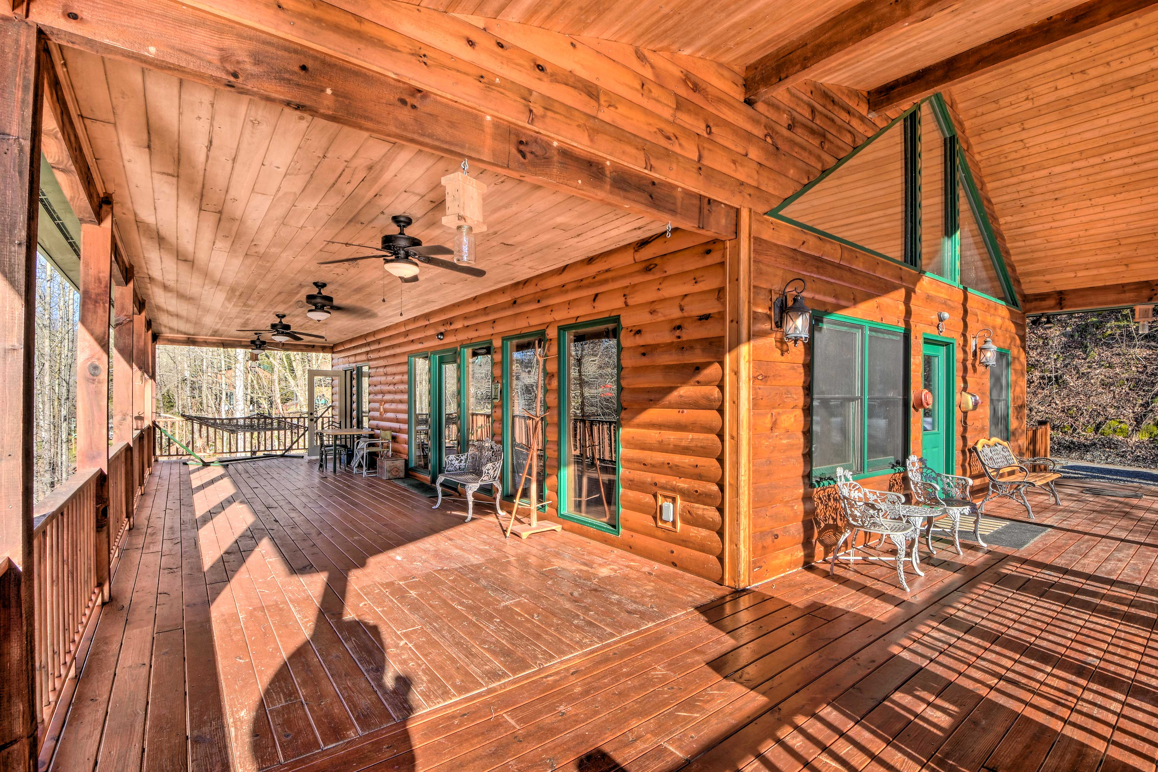 Bring your morning cup of coffee outside to the wraparound deck.