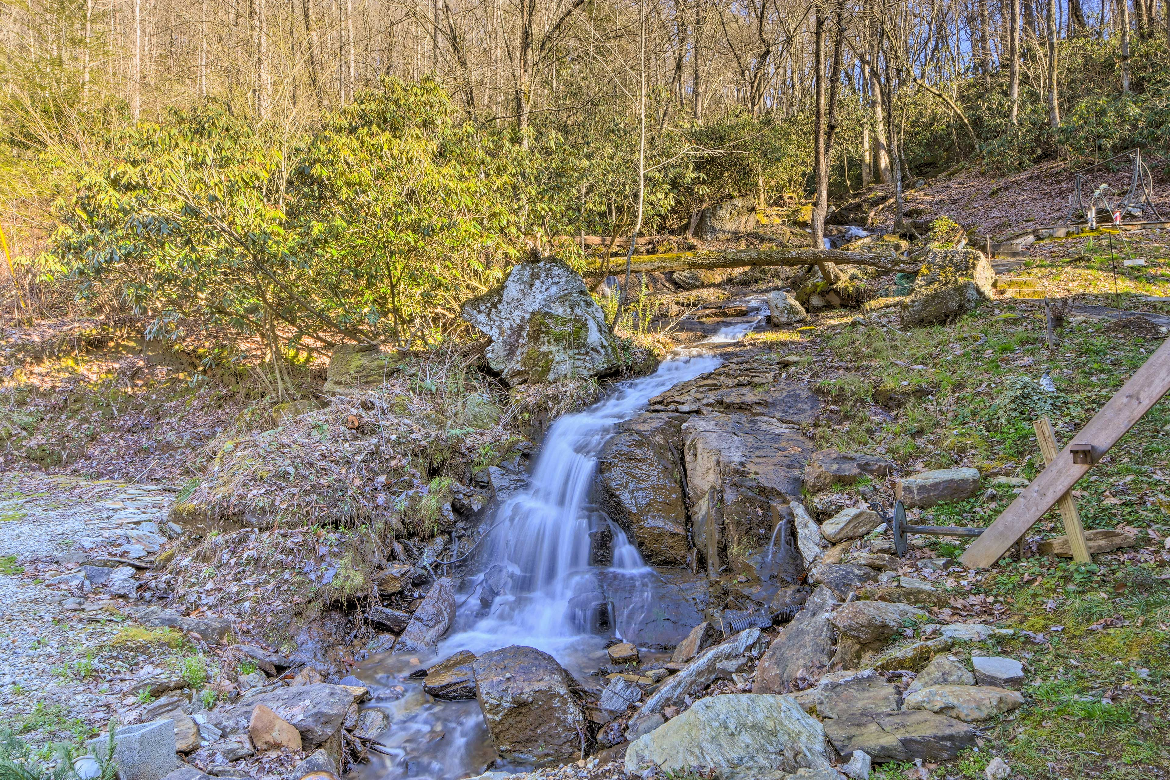 Venture out on a short stroll to a nearby waterfall.