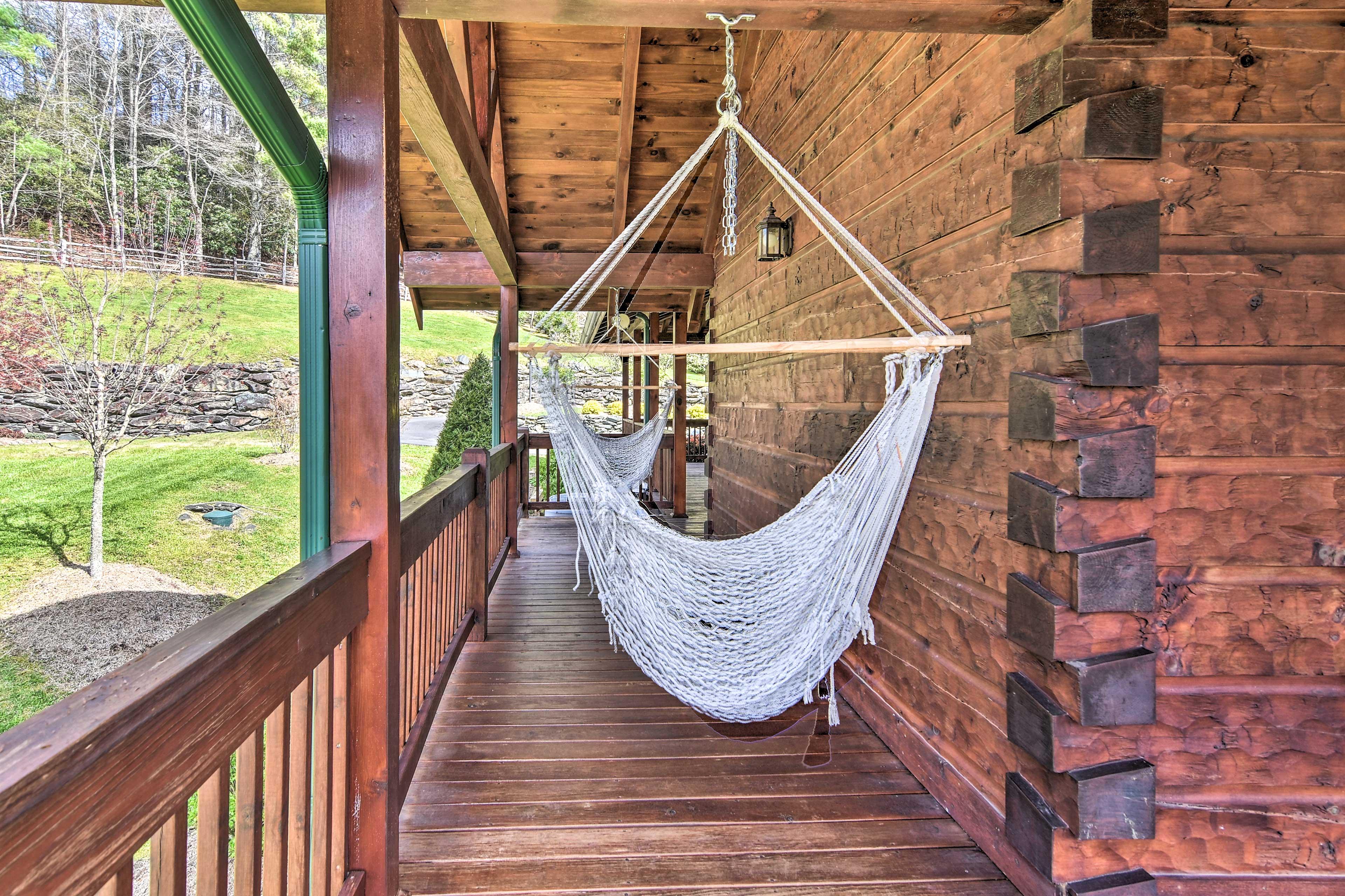 Sway your worries away in the rope hammocks!