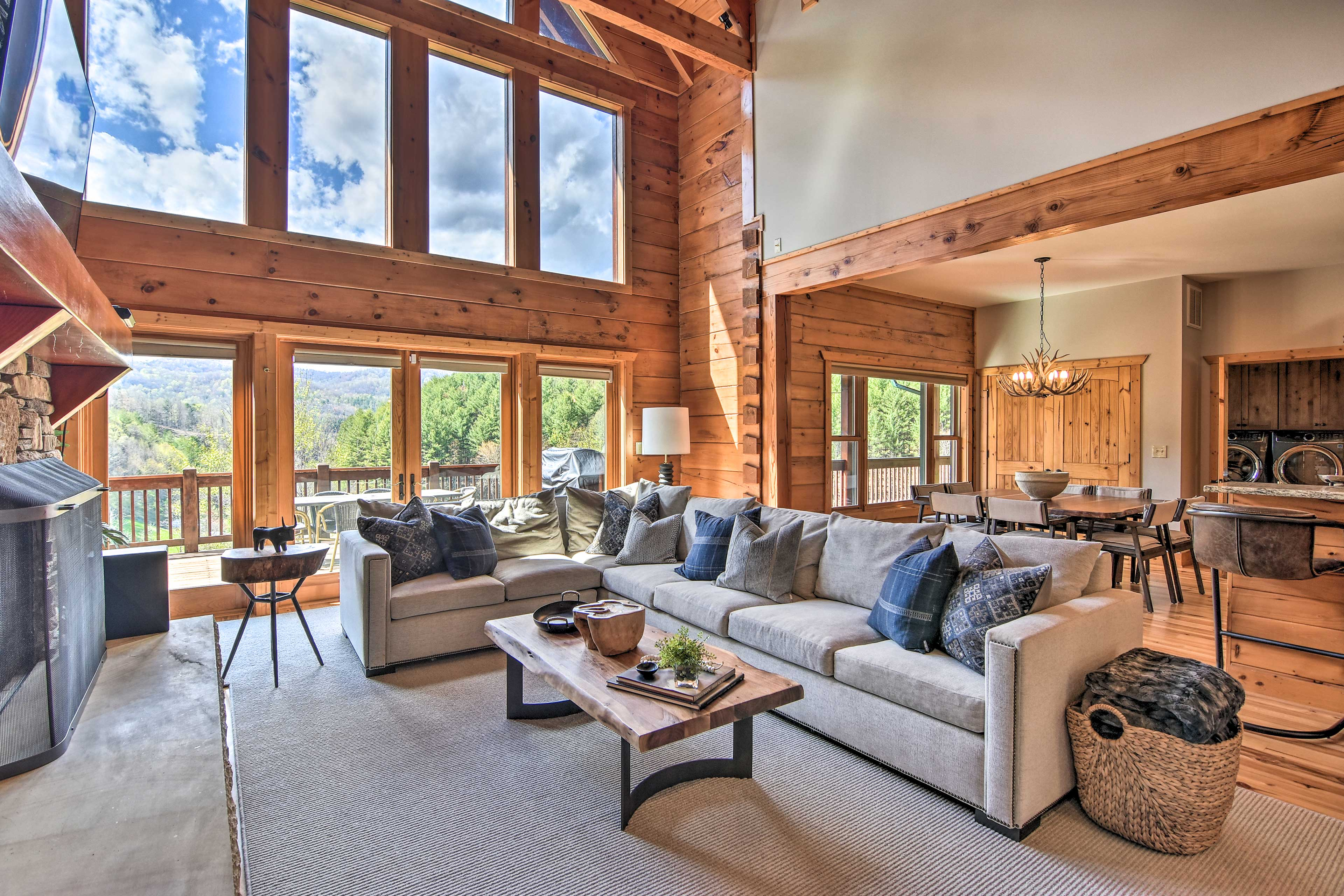 Bask in beautiful views from inside & out of this Banner Elk home!
