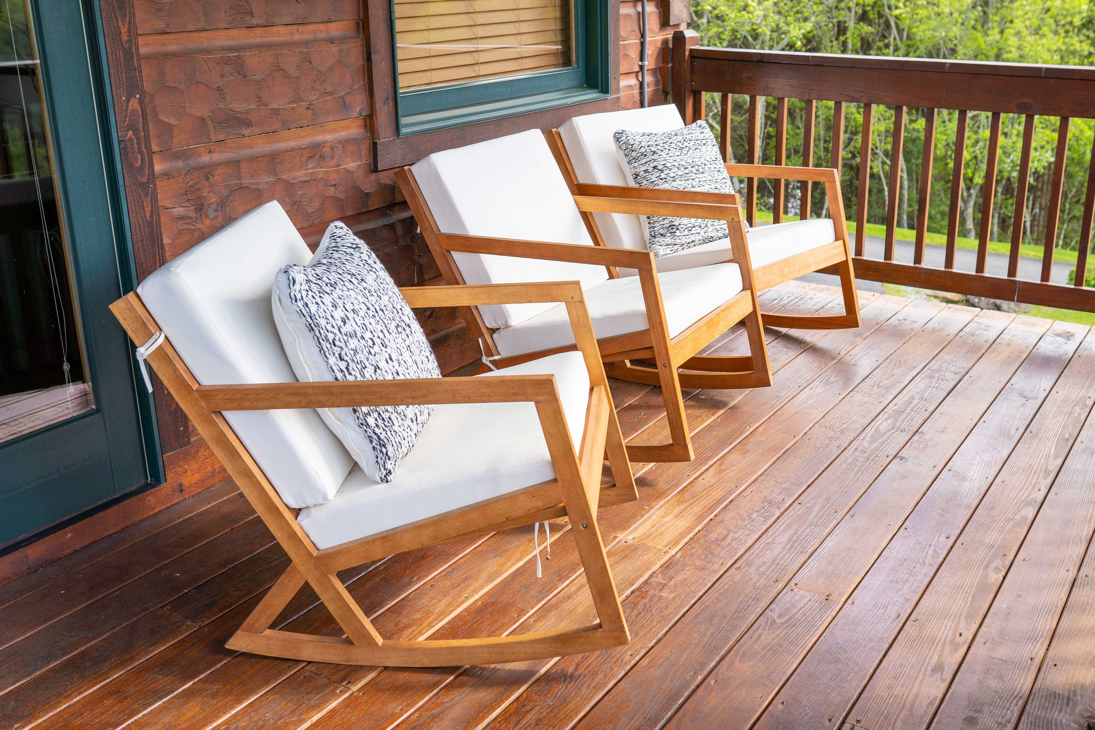 Relaxation is made easy with this spacious entertainment deck.