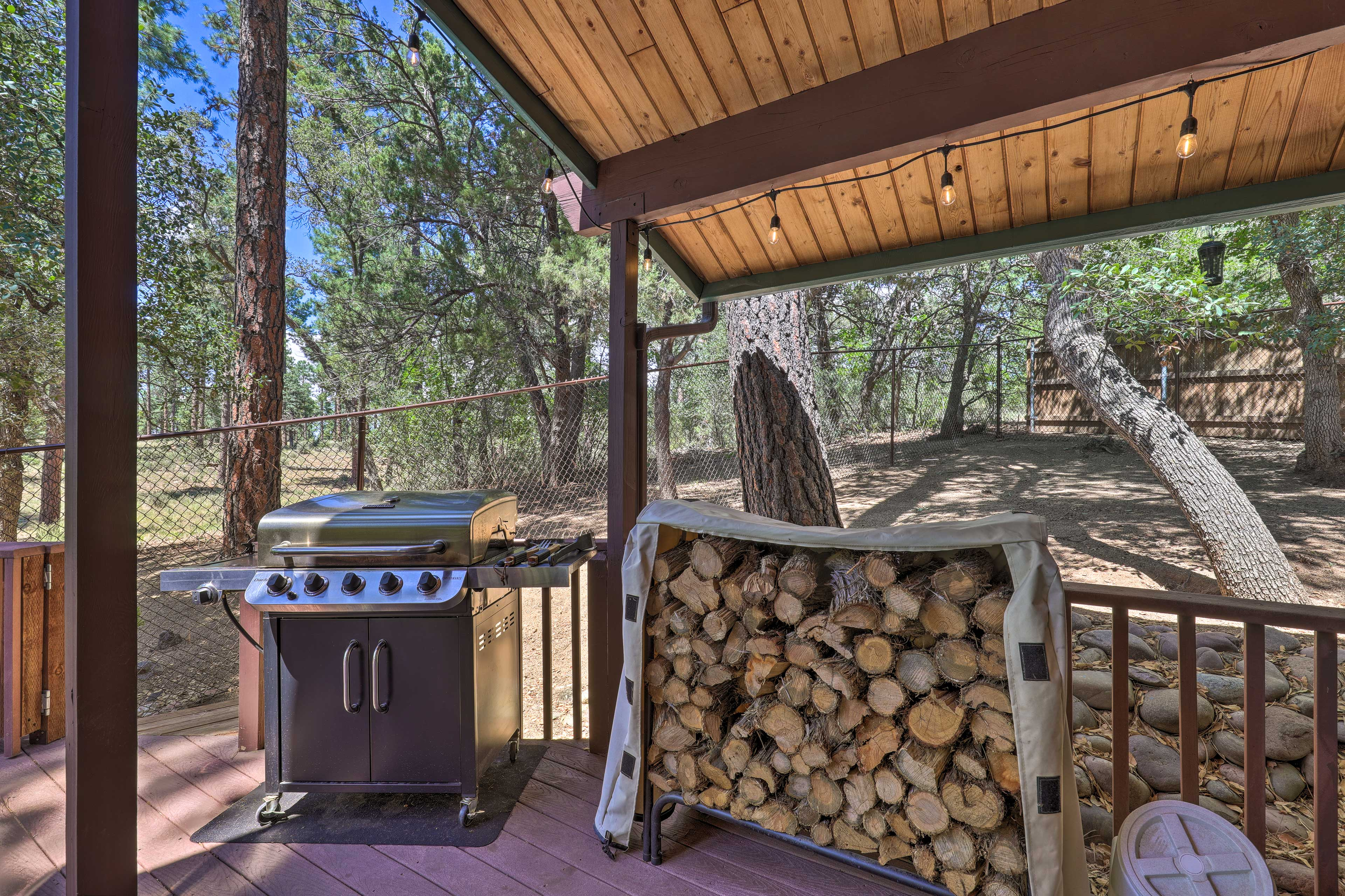 Fire up the gas grill for a cookout and enjoy the surrounding nature.