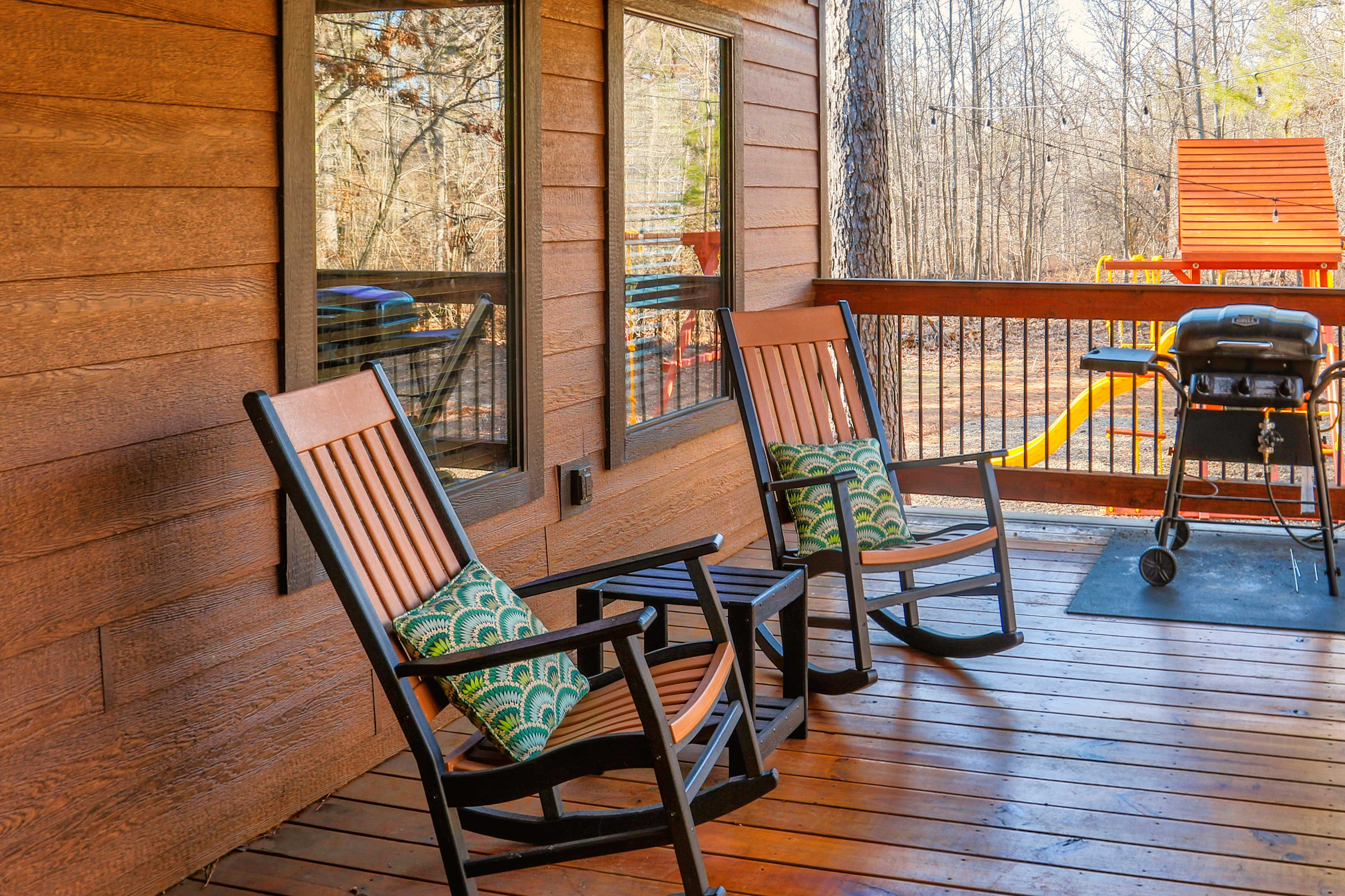 Covered Back Deck | Gas Grill
