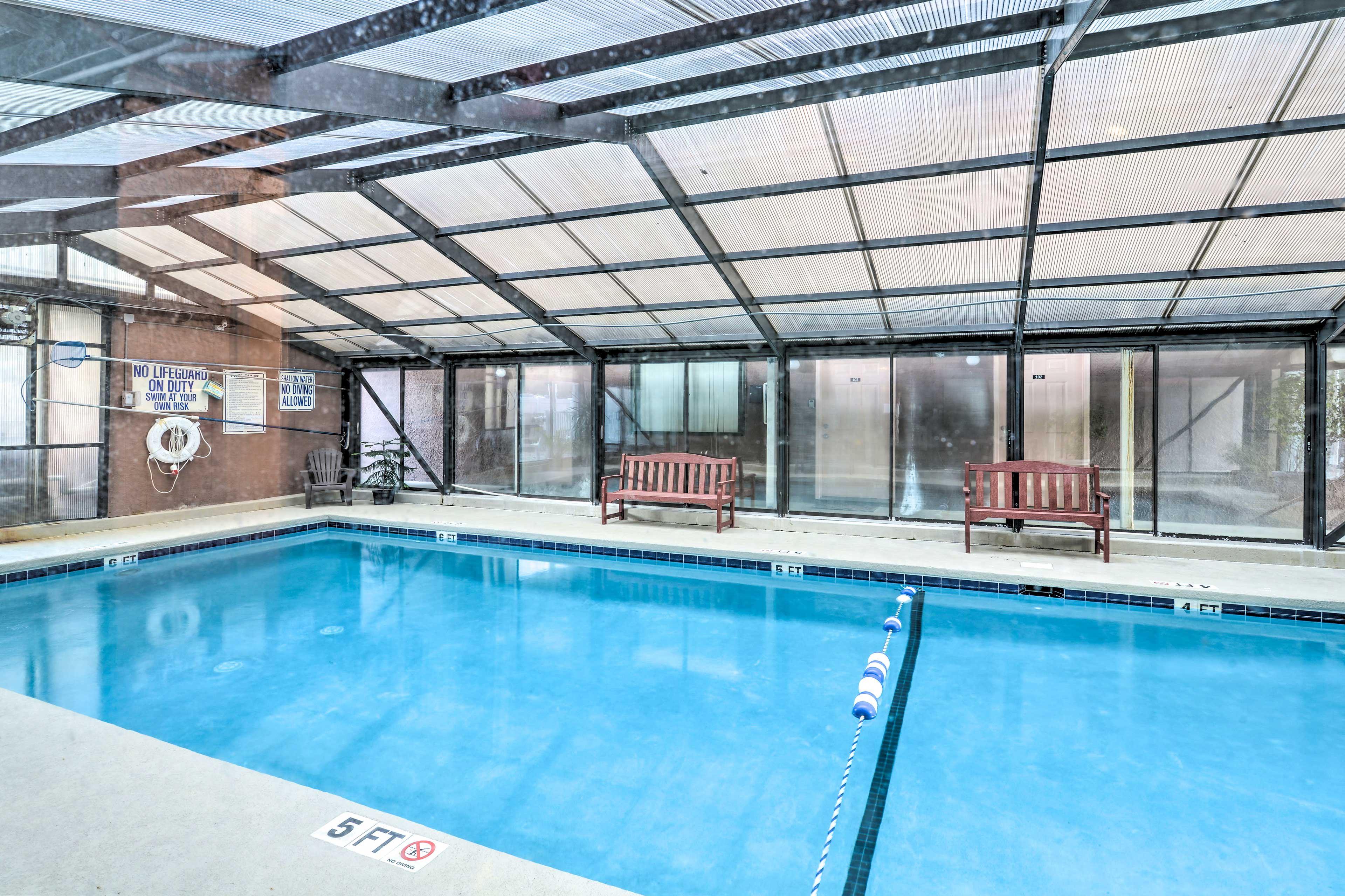 Get access to community amenities like the indoor pool.