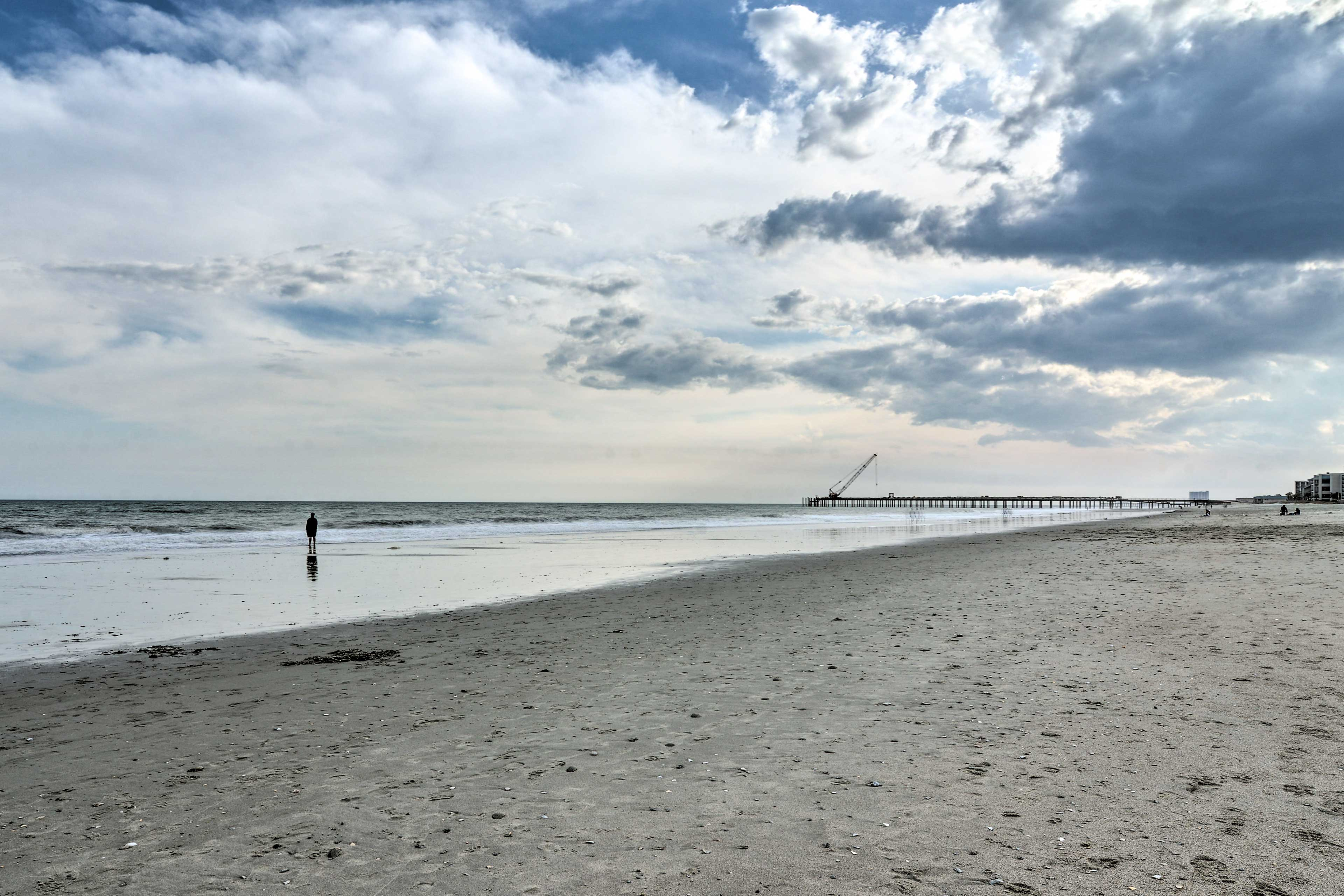 Walk to the beach just across the road from this vacation rental!