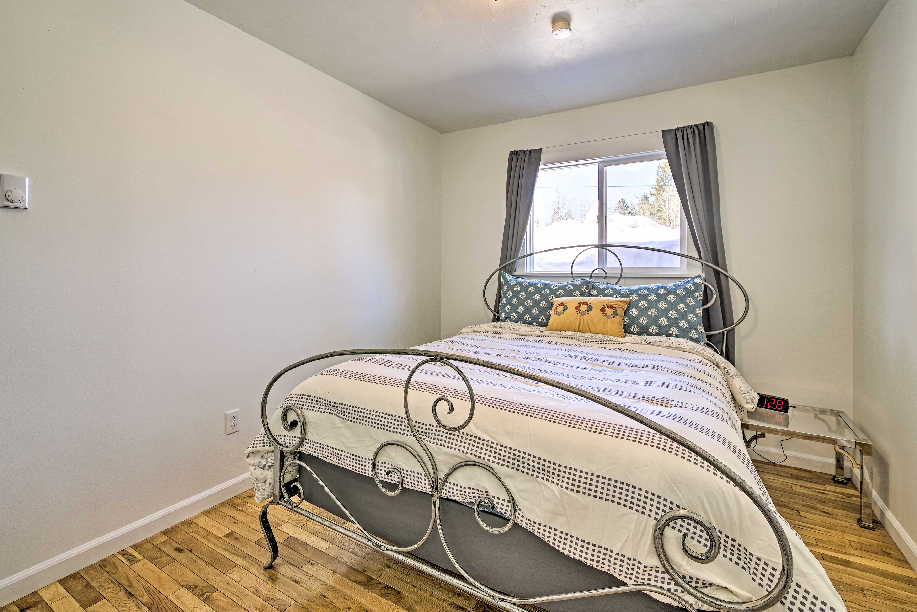 You'll find a queen bed in the third bedroom.