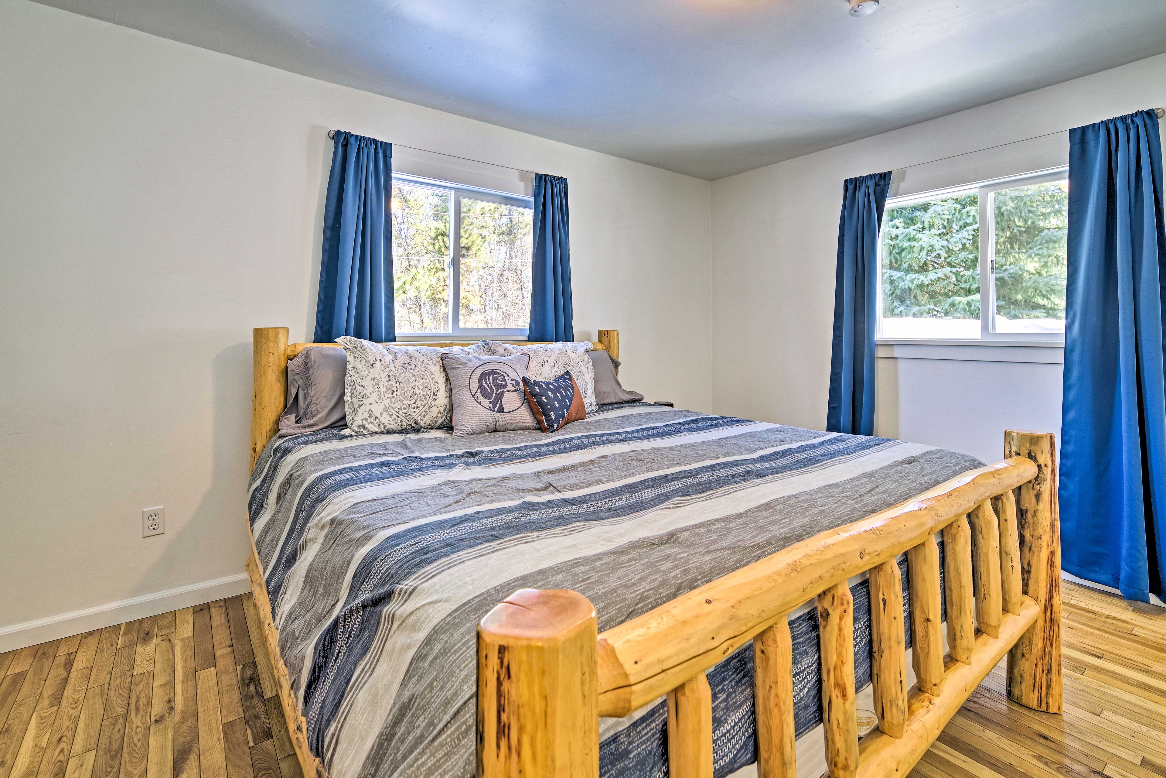 Enjoy the king bed in the master suite.