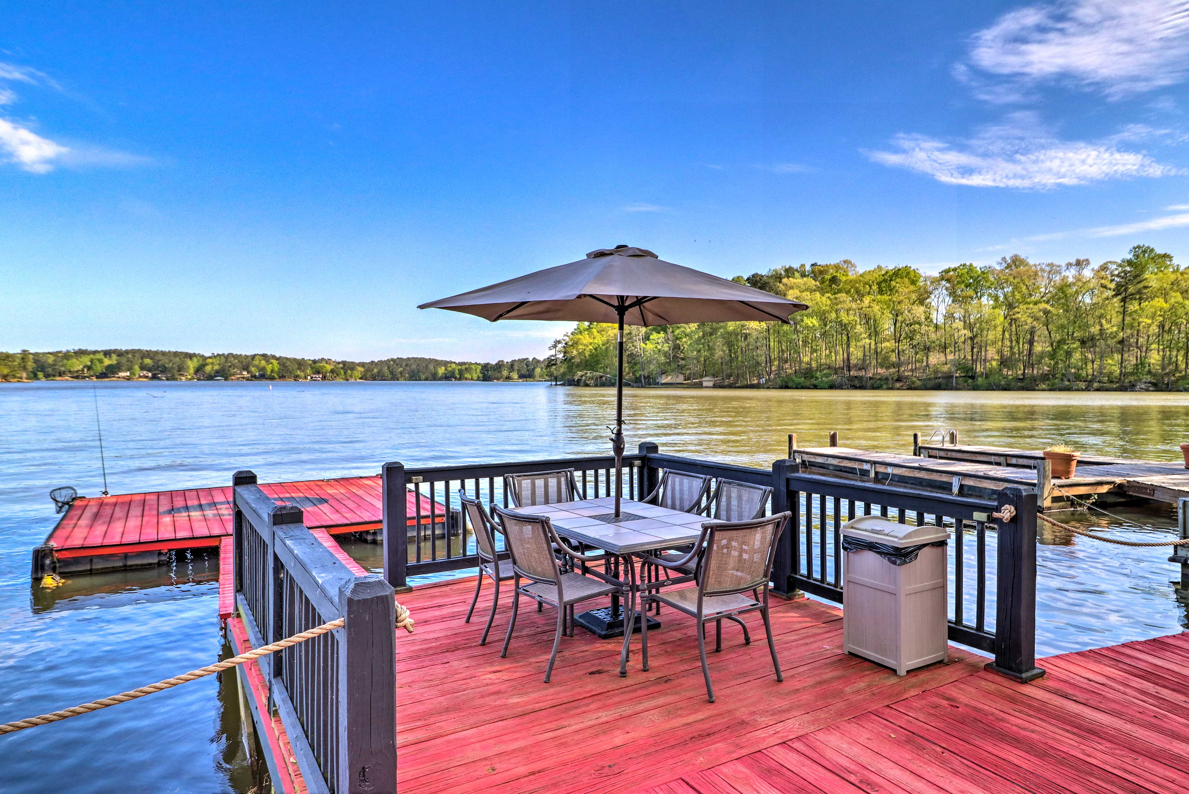 Sip on a sweet tea as you lounge on the deck.
