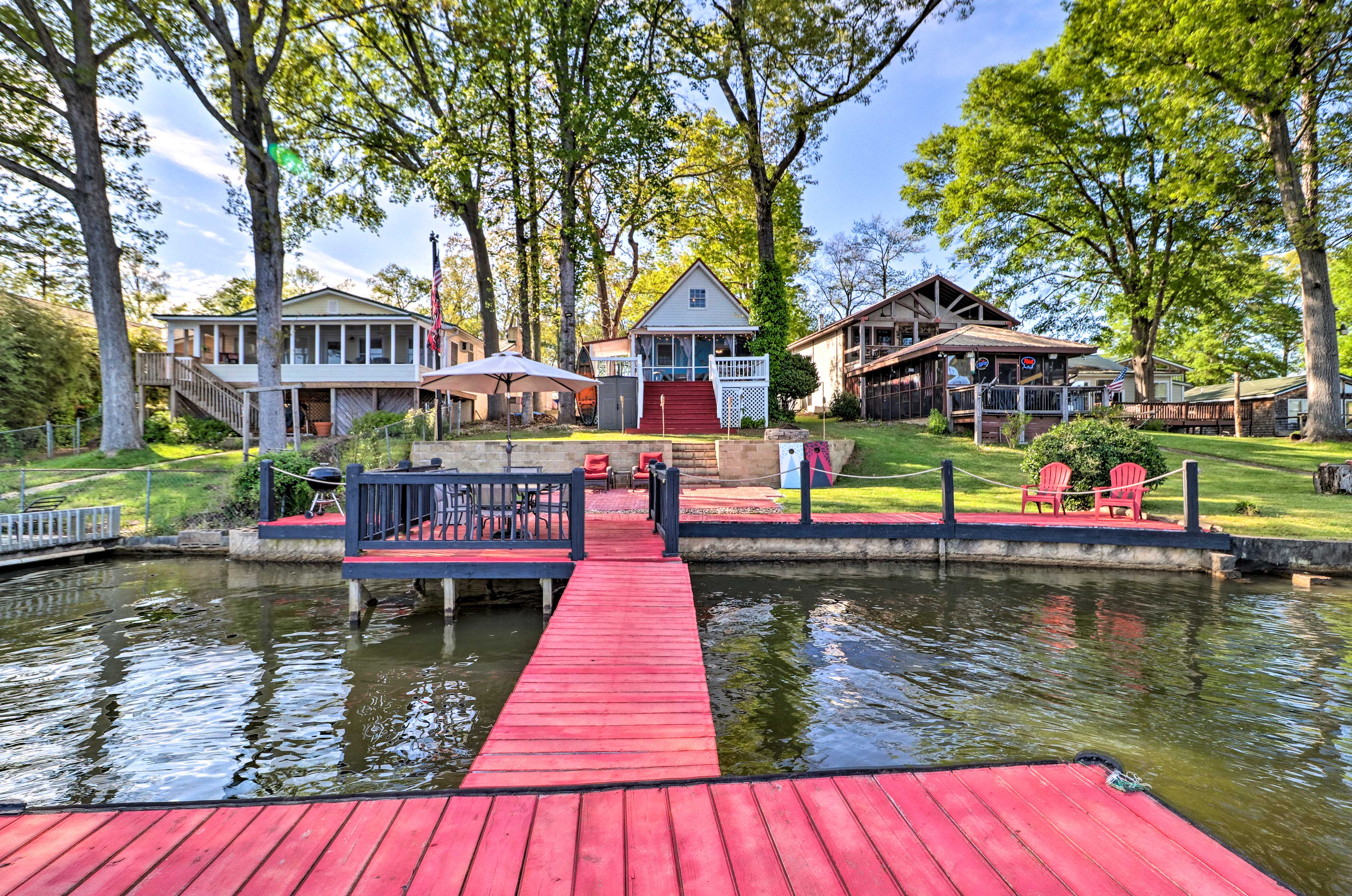 Take a walk down to the dock.