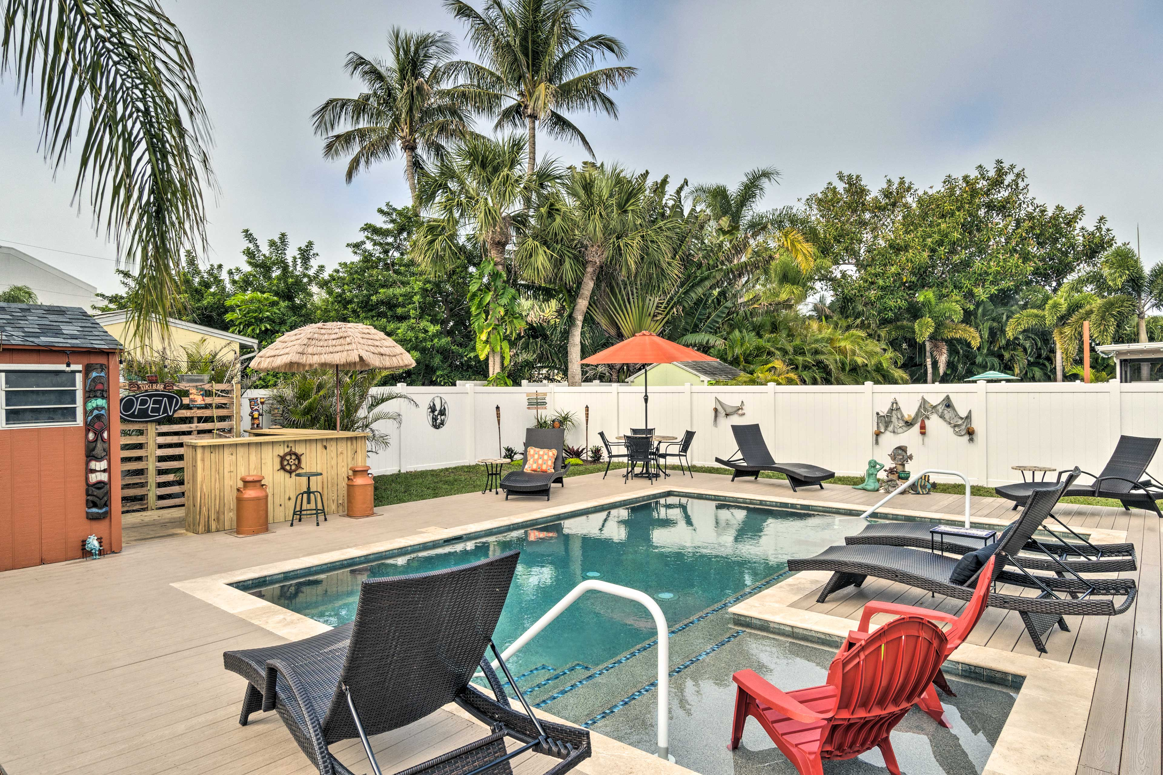 Spend all day relaxing by your private heated pool.