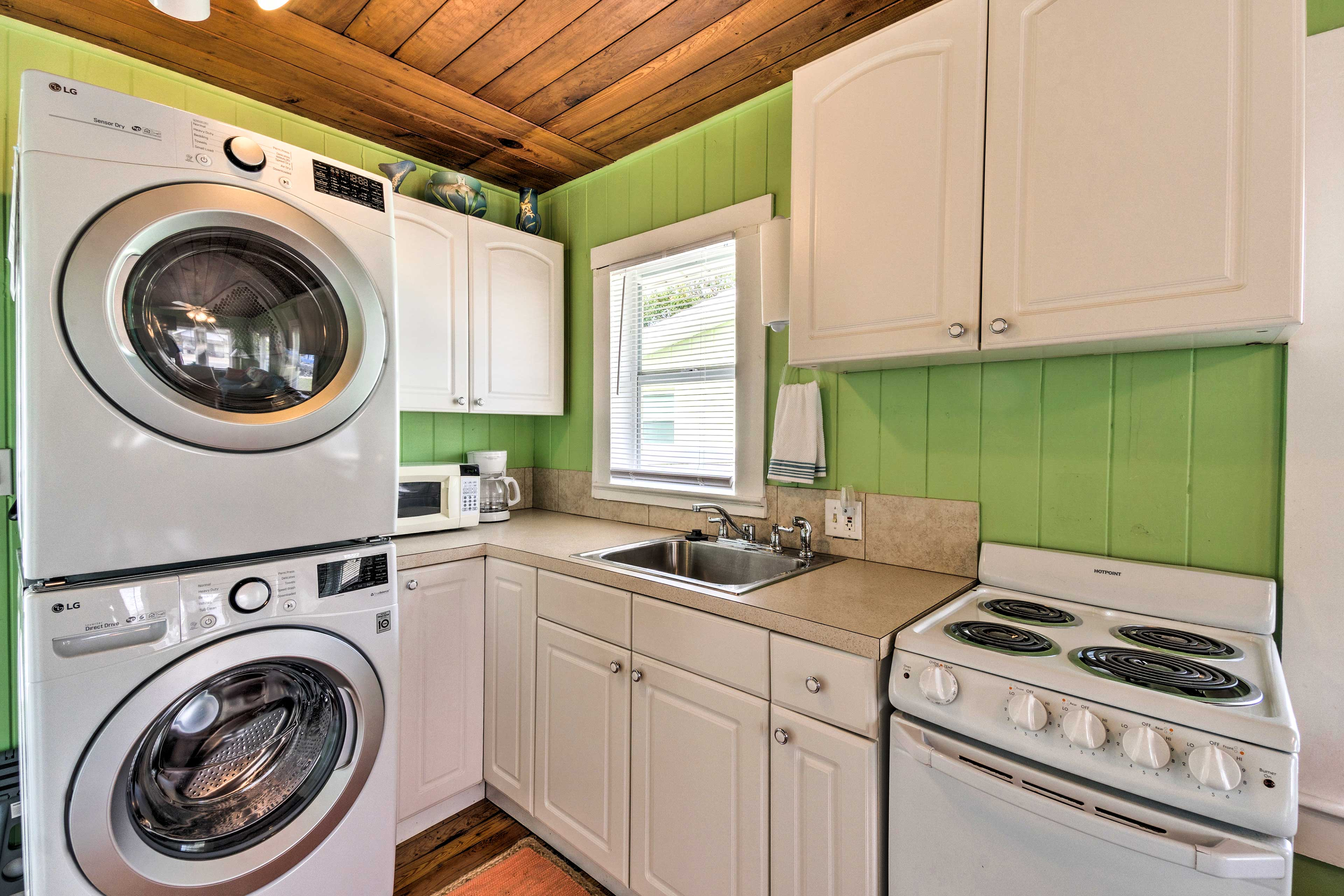Throw in your laundry at the same time as you cook.
