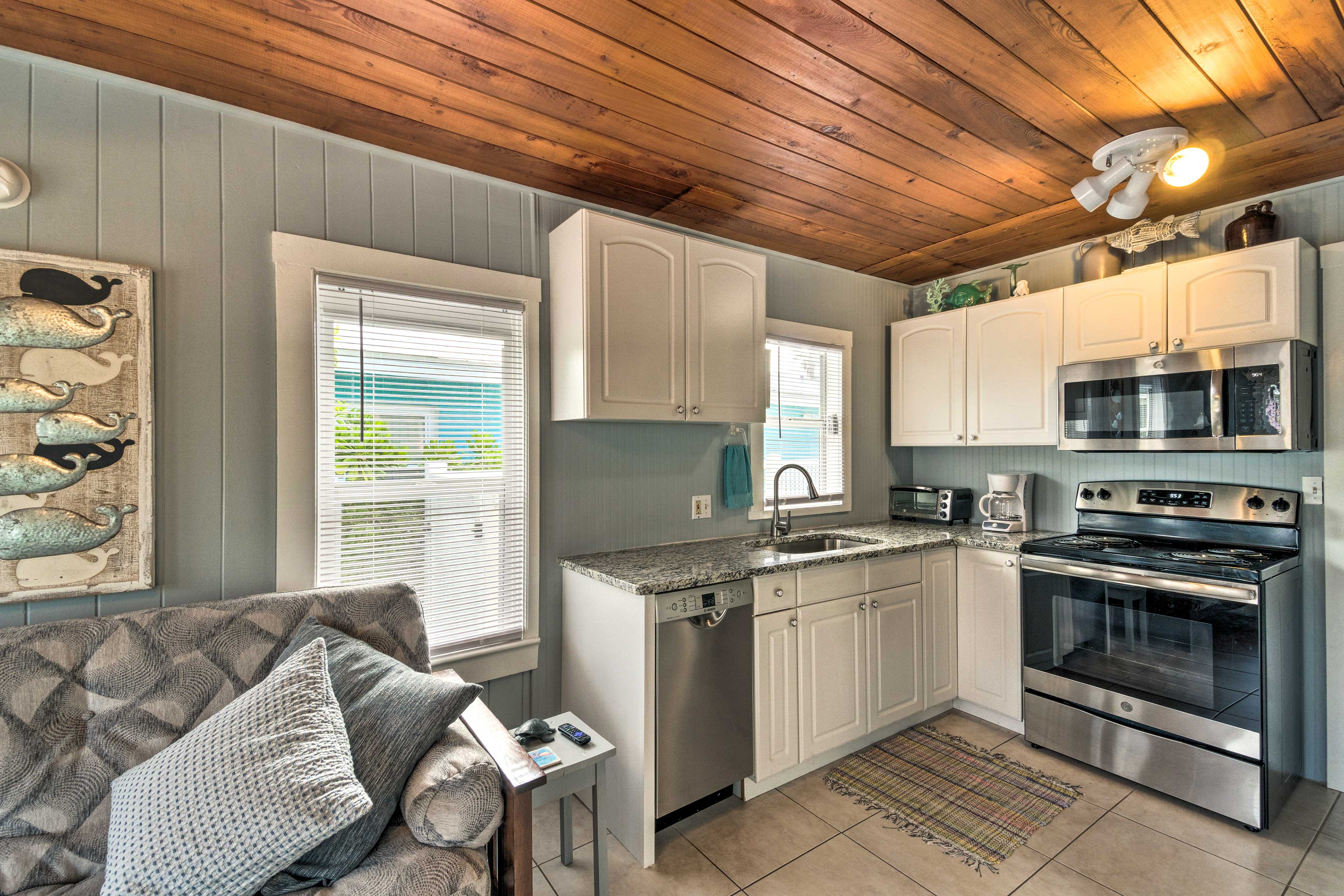 This home features 2 kitchens with updated appliances.