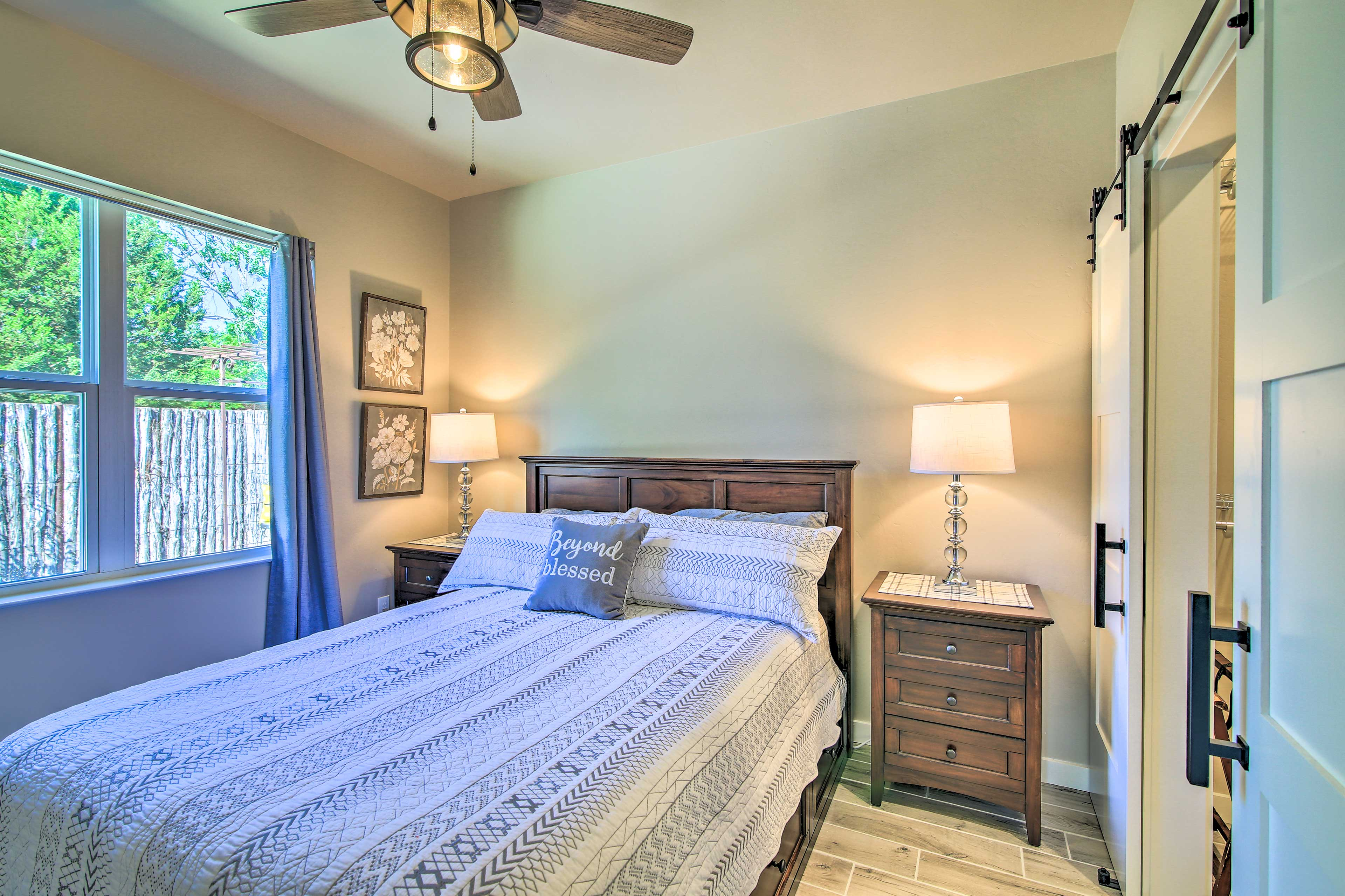 The master bedroom is perfect for 2 guests.