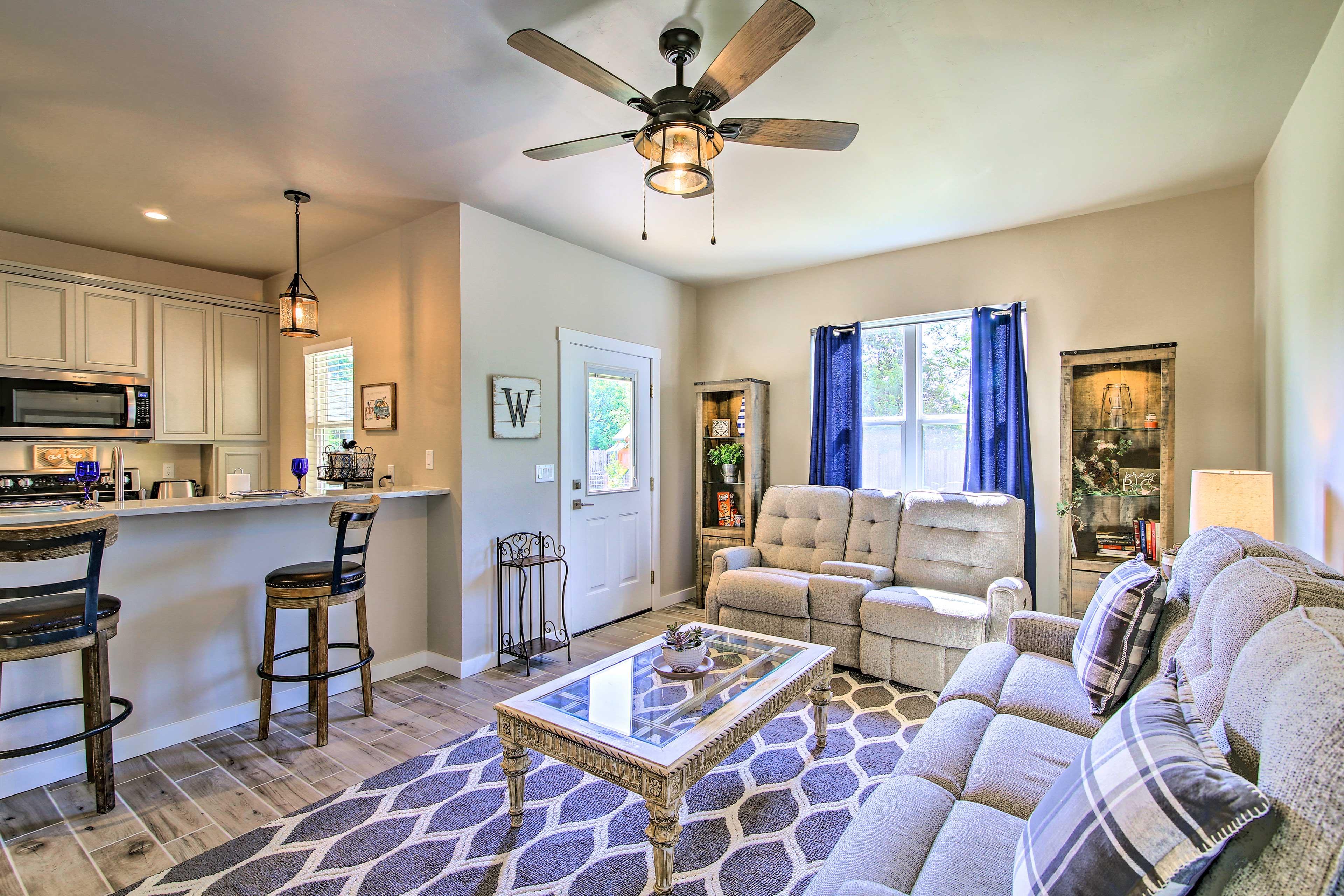 This cozy retreat offers a private escape in Fredericksburg!