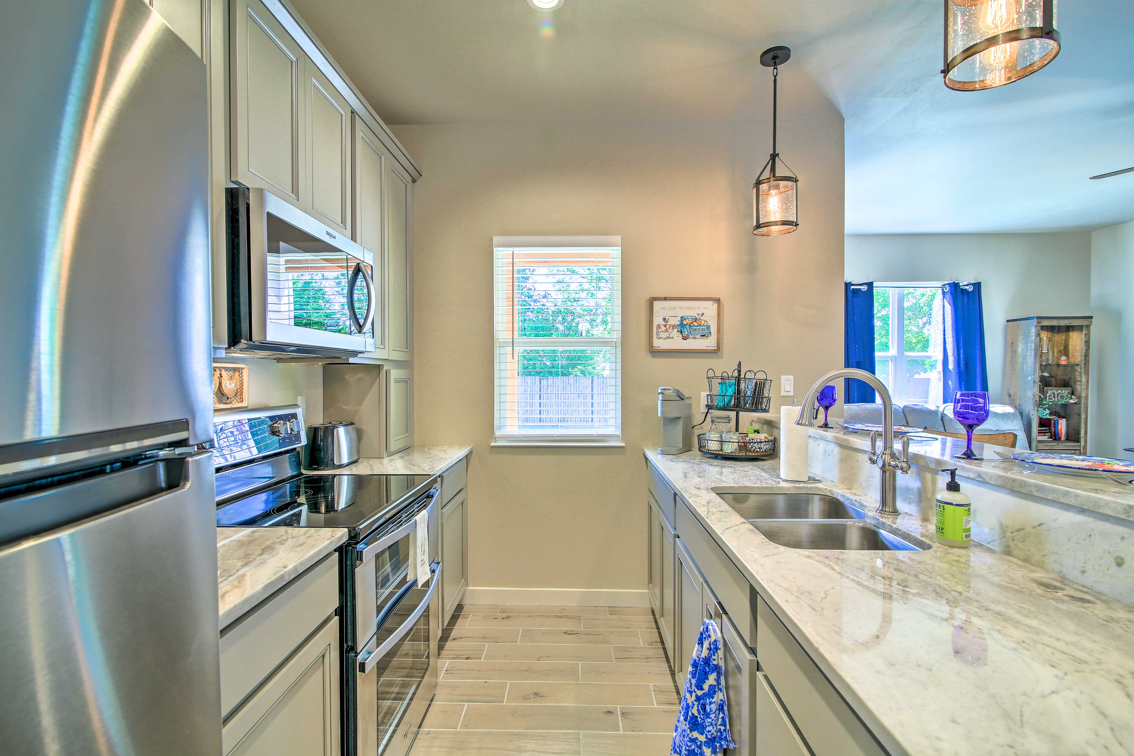 You'll love cooking in this gorgeous kitchen!