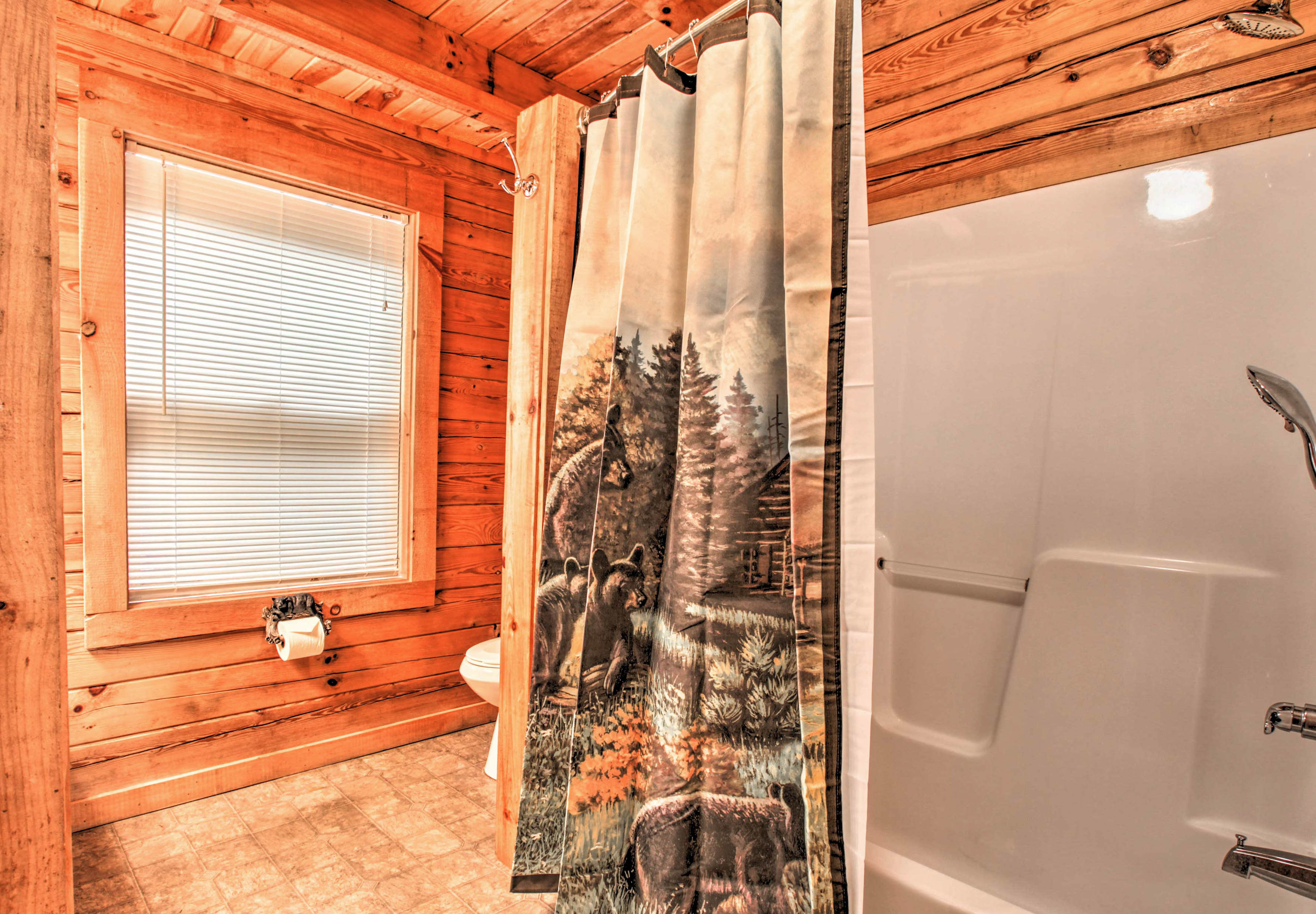 Wash the day away in this shower.