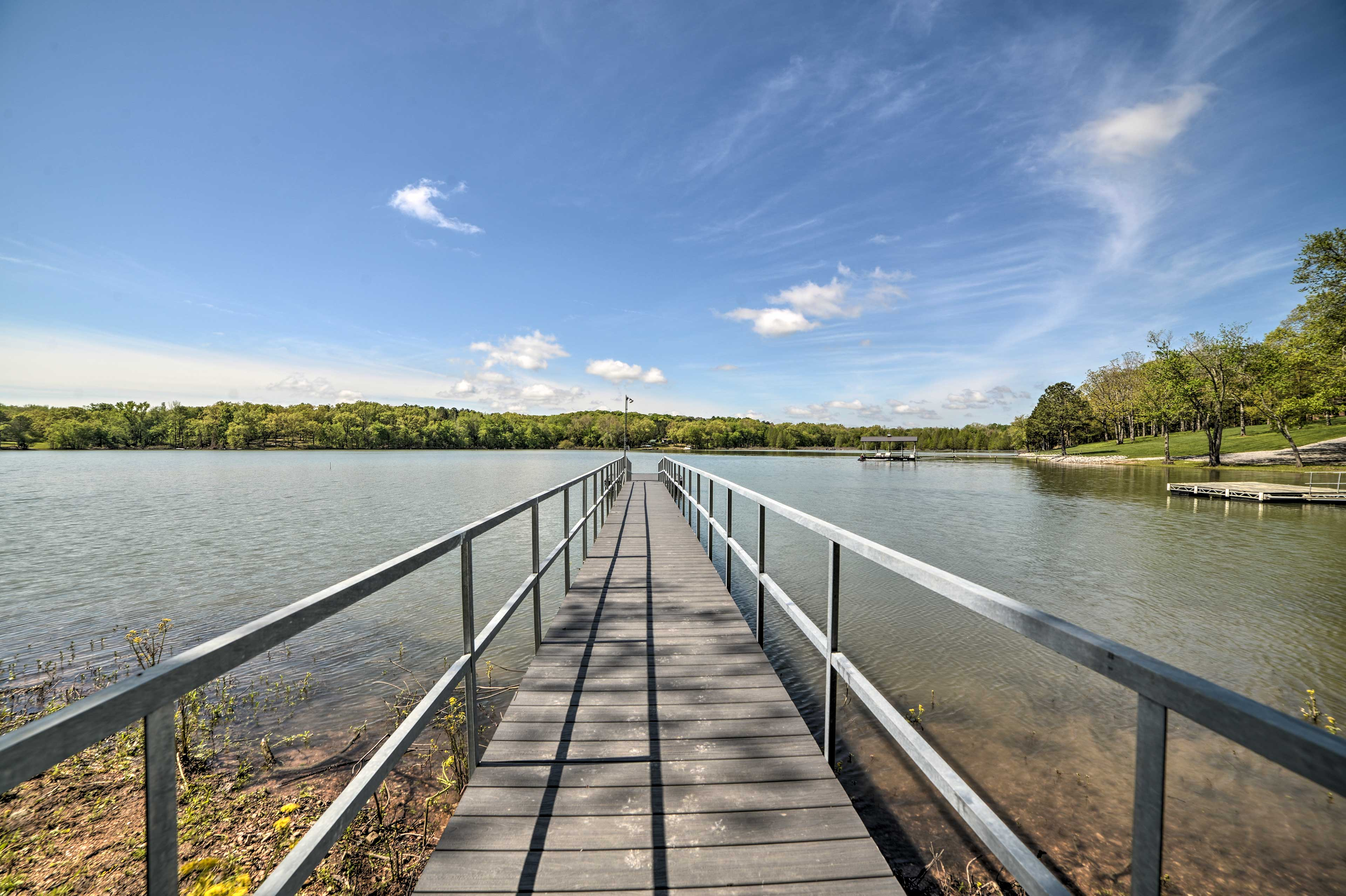 With dock access, this New Concord home is a perfect lakefront retreat!
