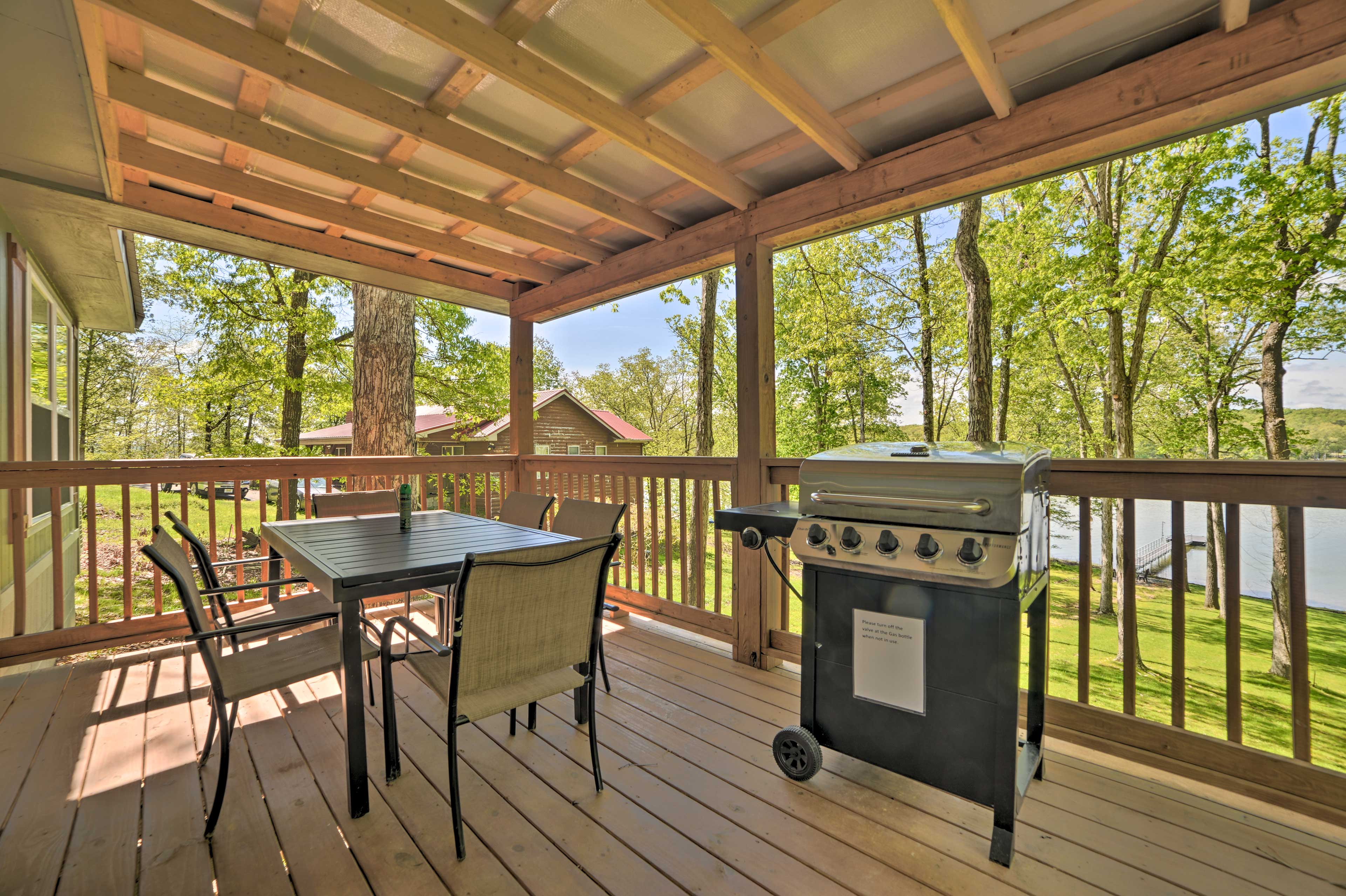 Have a cookout with the gas grill.