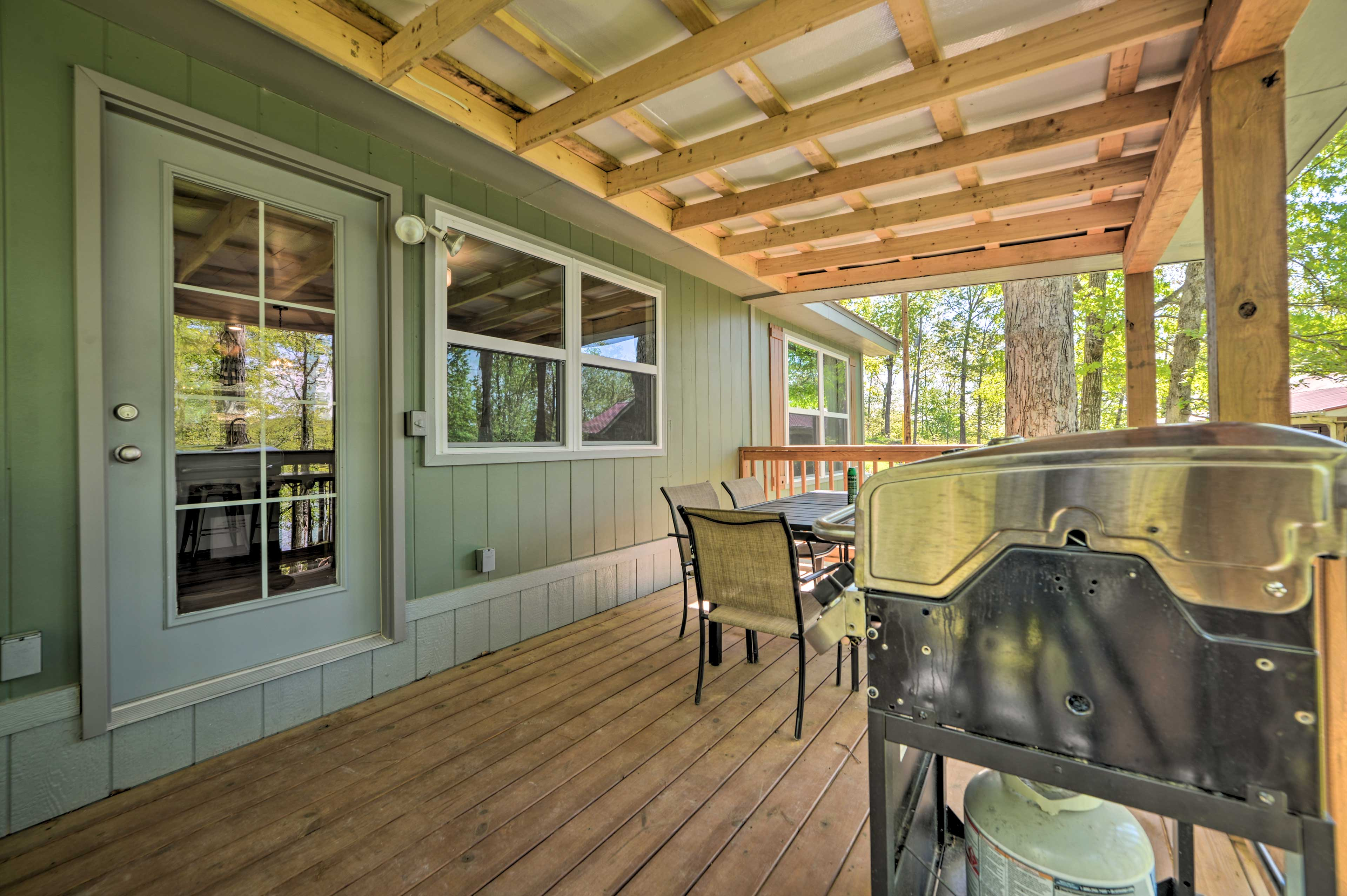Head out onto the deck!