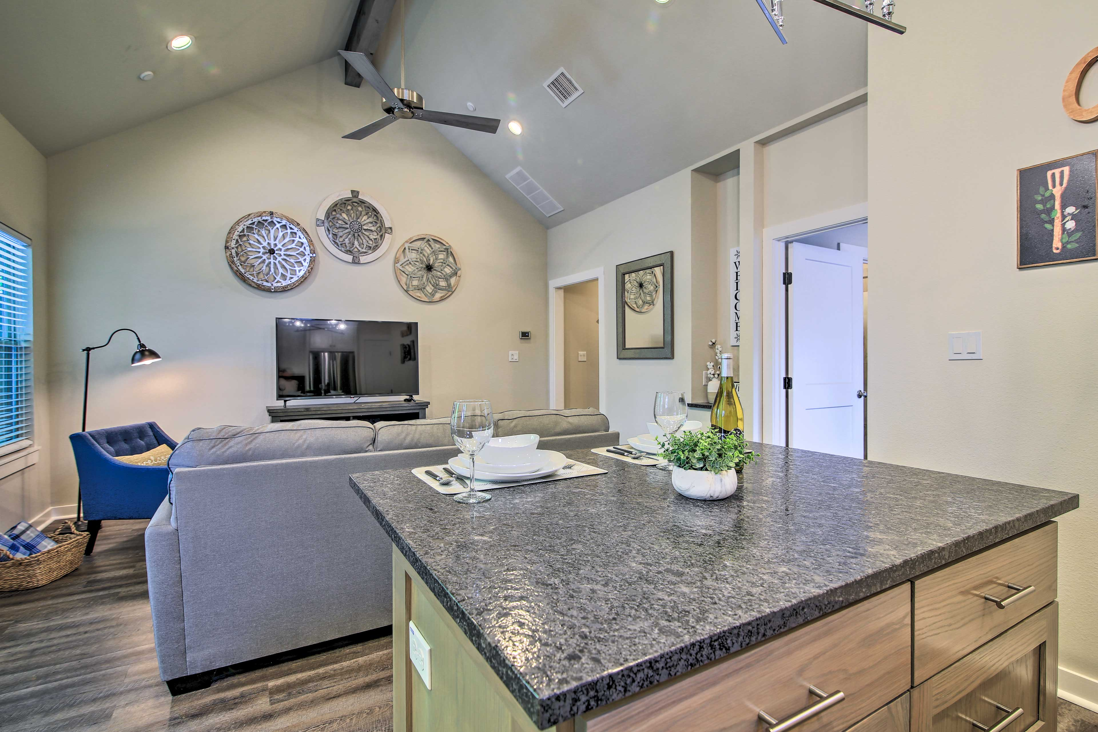 This modern condo is the perfect place to enjoy Fredericksburg.