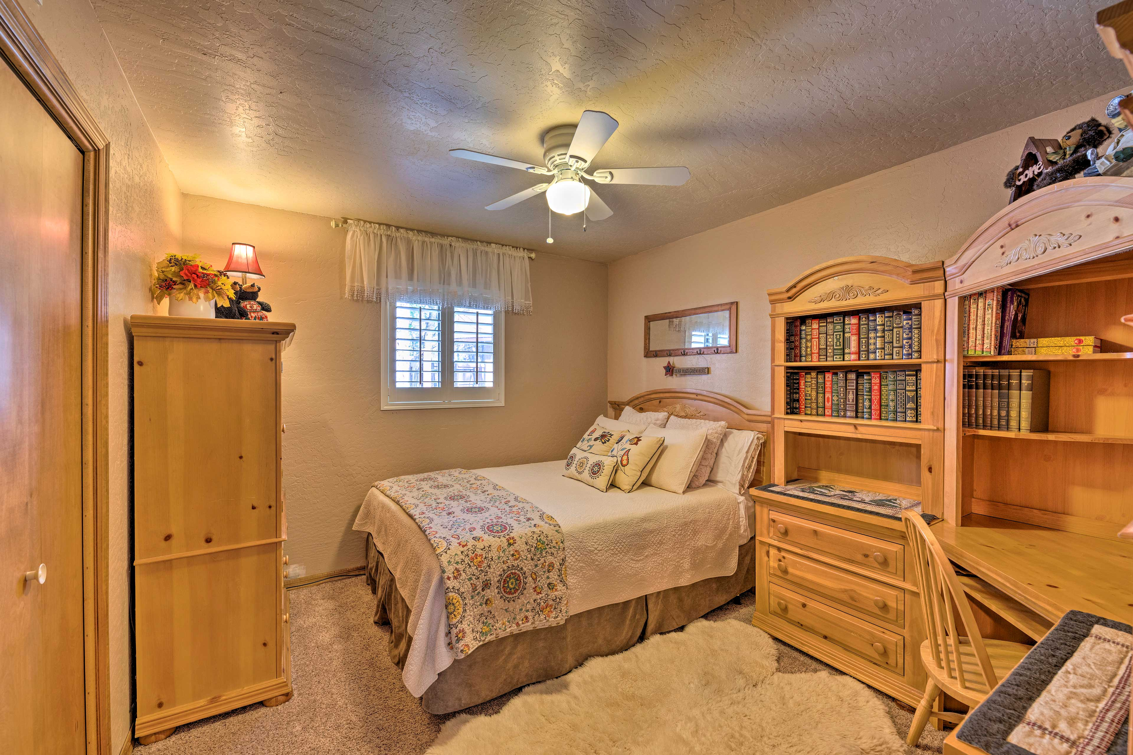 The second bedroom has space for 2.