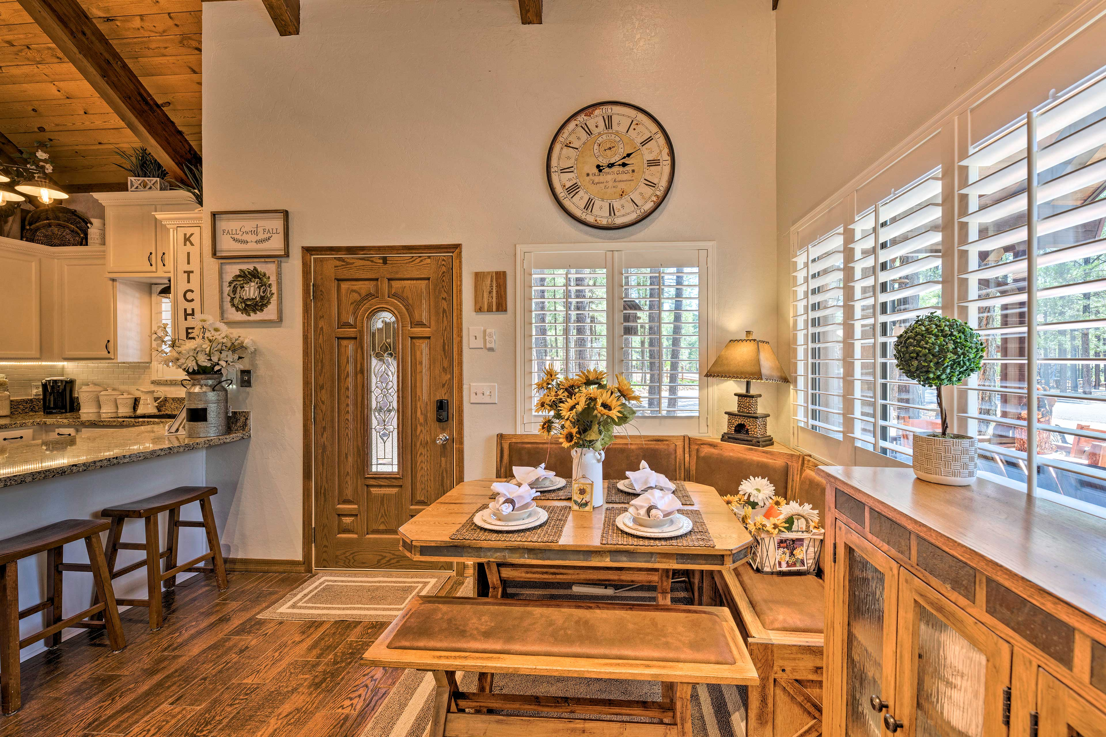 Sit down to breakfast in this charming nook.