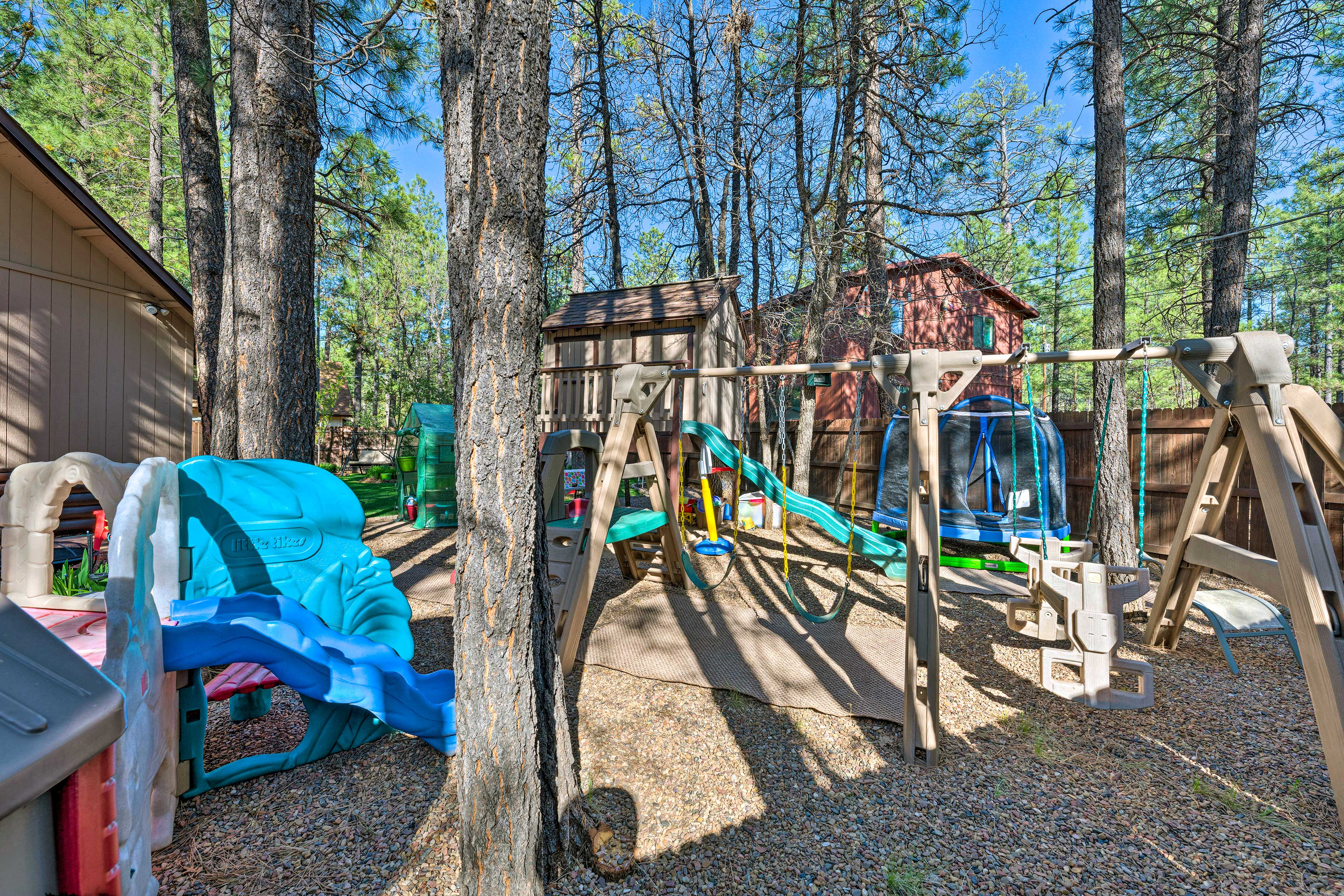 Little ones will delight at the playset.