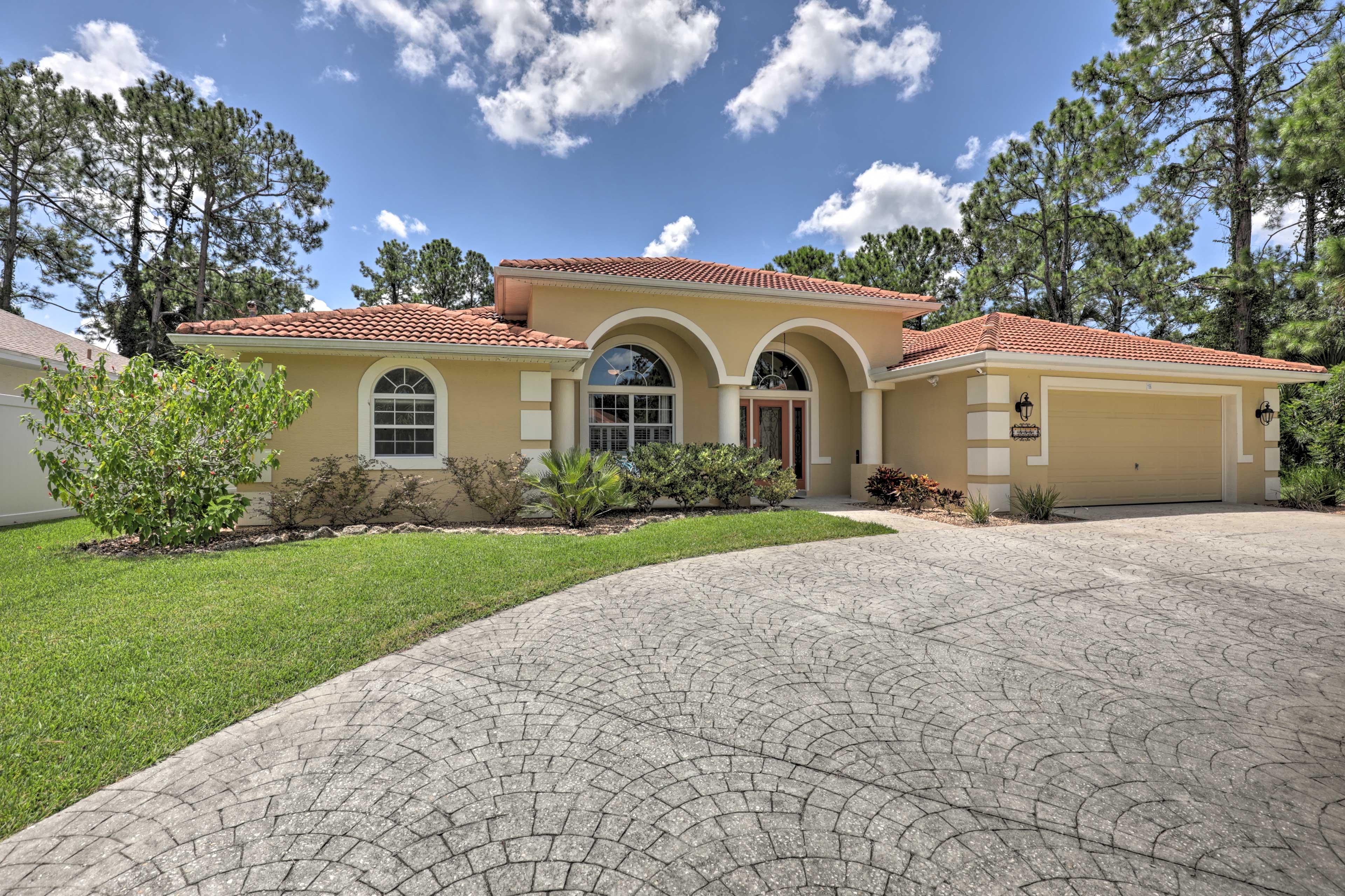 Your next Florida trip awaits at this Palm Coast home.