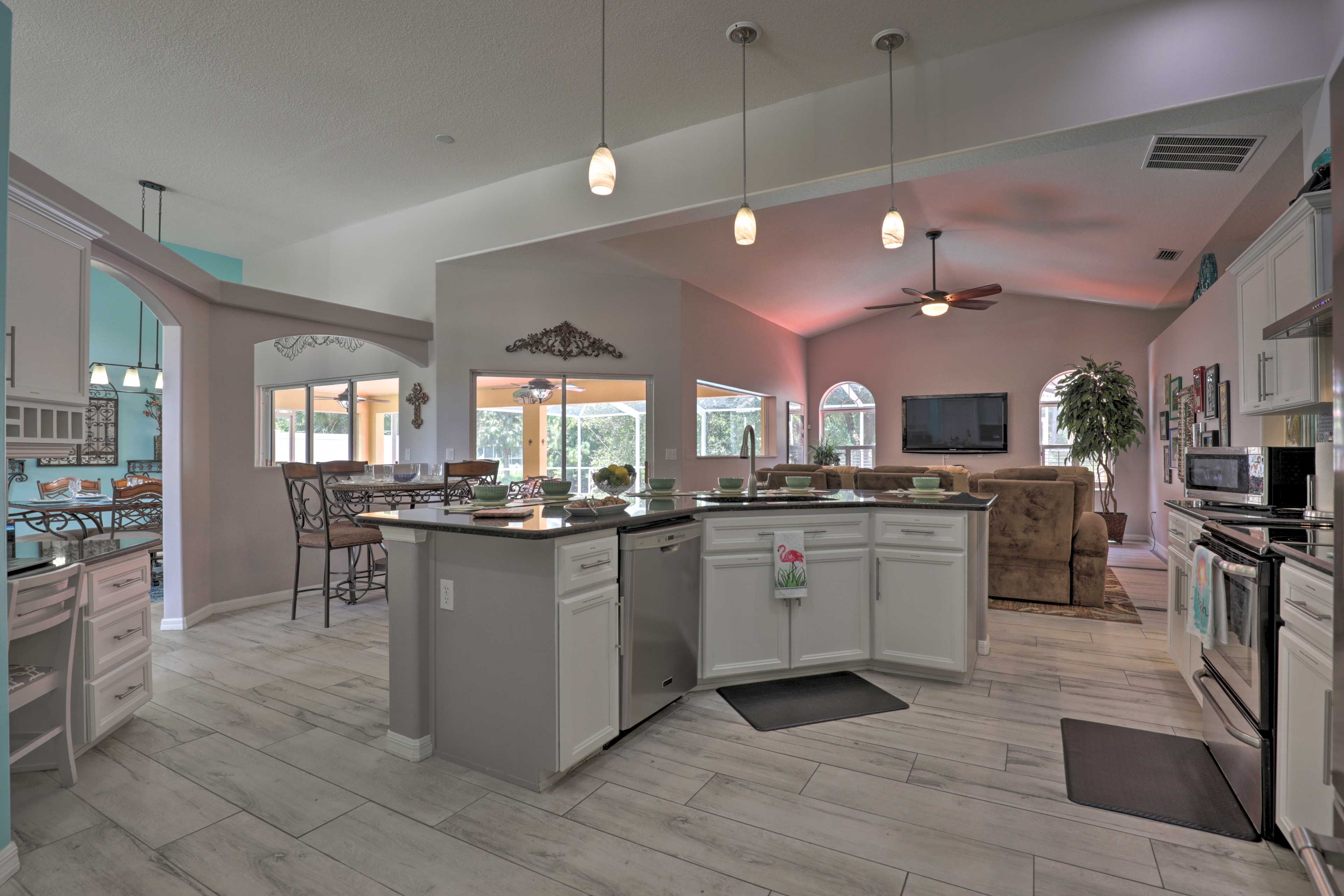 Whip up a 5-star meal in the fully equipped kitchen.